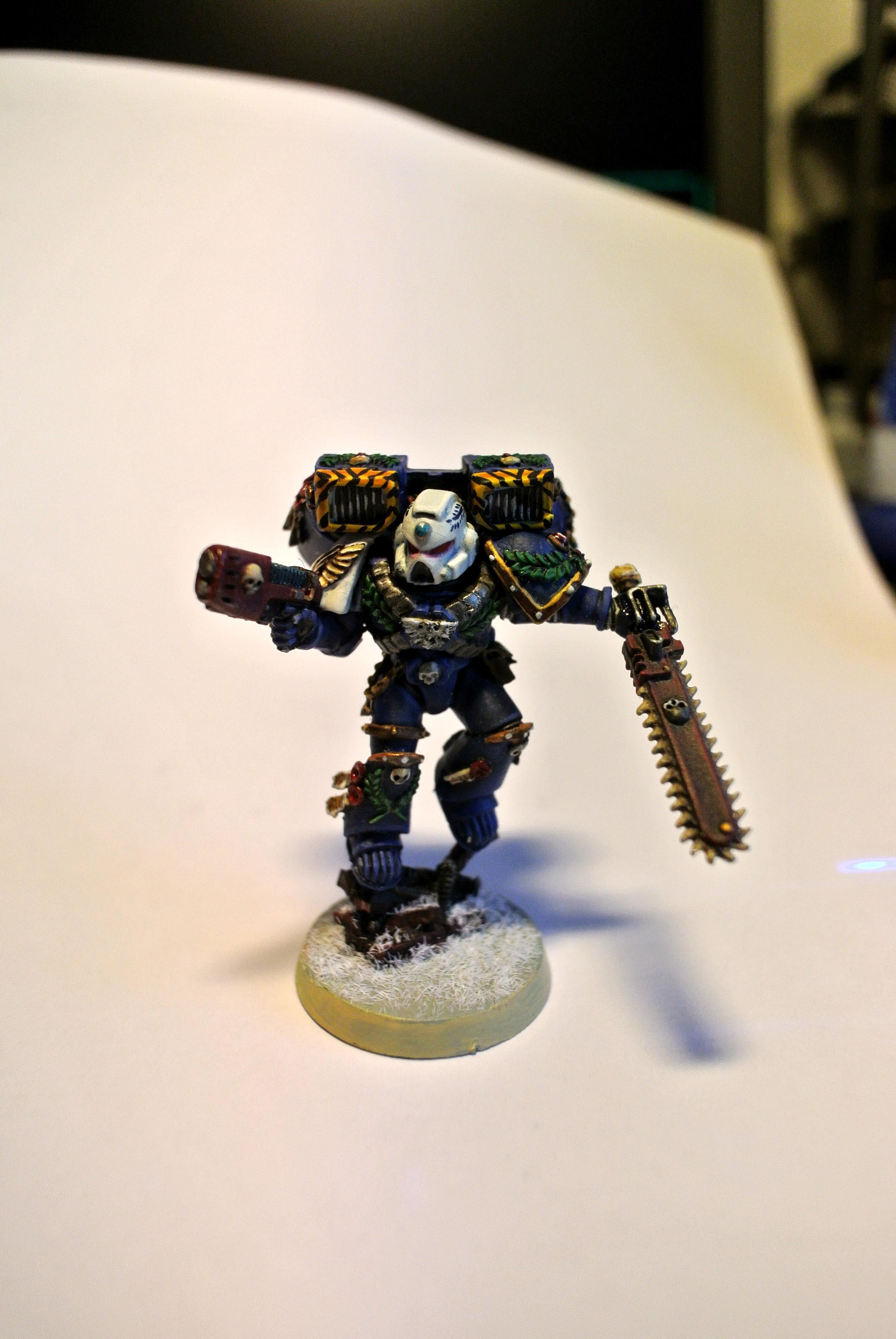 Assault Squad, Space Marine Vanguard Veteran Squad, Space Marines, Ultramarines, Vanguard, Warhammer 40,000