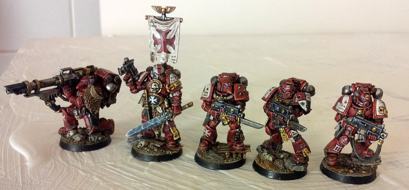 Conversion, Crimson Templars, Lascannon, Power Armour, Red, Space, Space Marines, Tactical