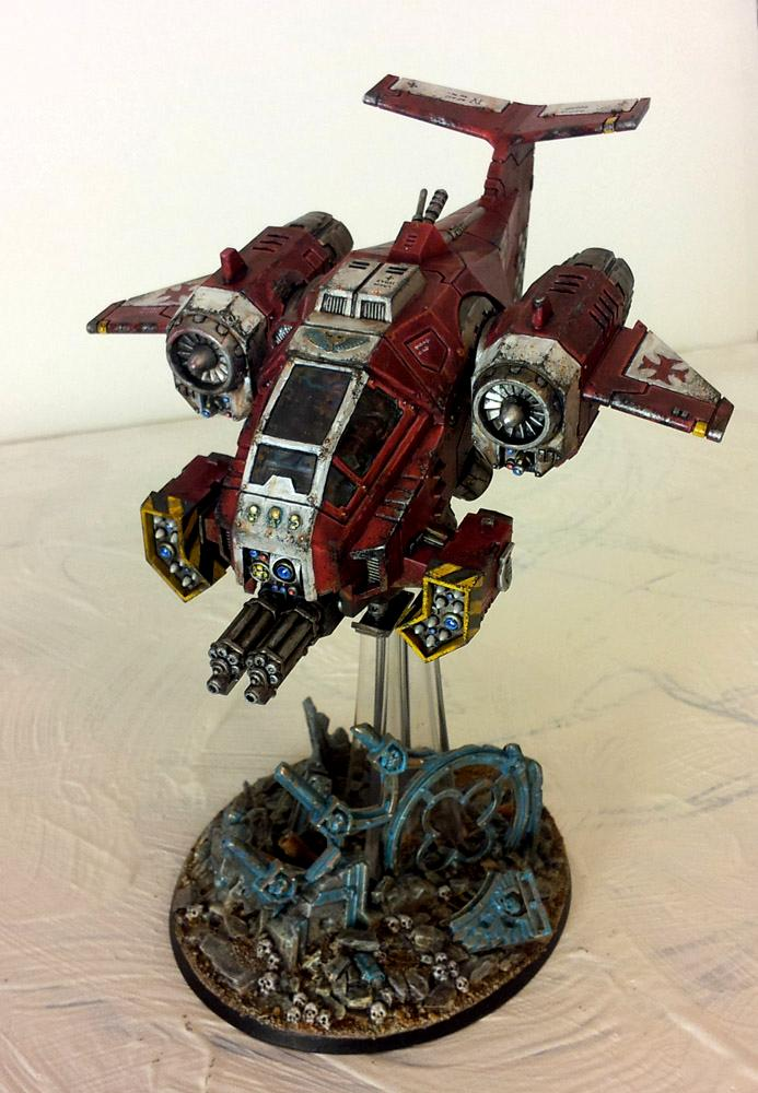 Conversion, Crimson Templars, Flyer, Red, Space, Space Marines, Vehicle