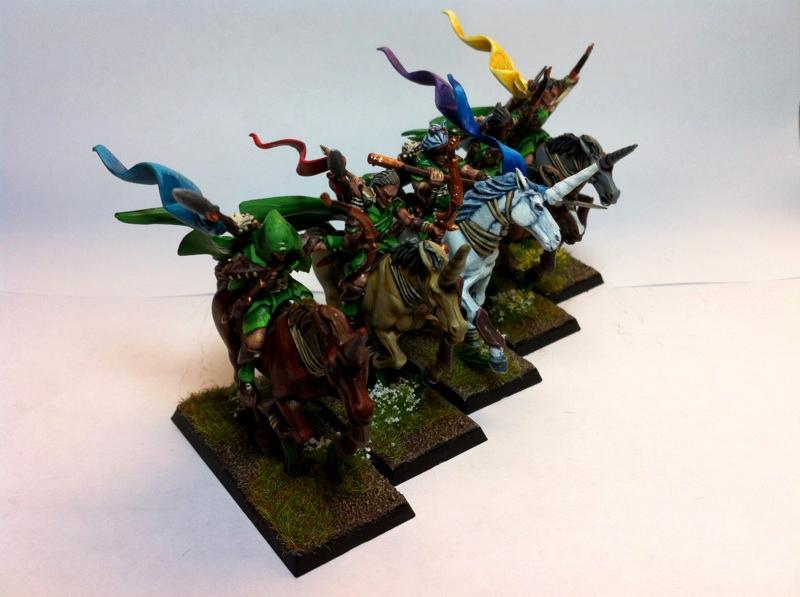 Elves, Glade Riders, Horses, Mounts, Unicorns, Warhammer Fantasy, Wood