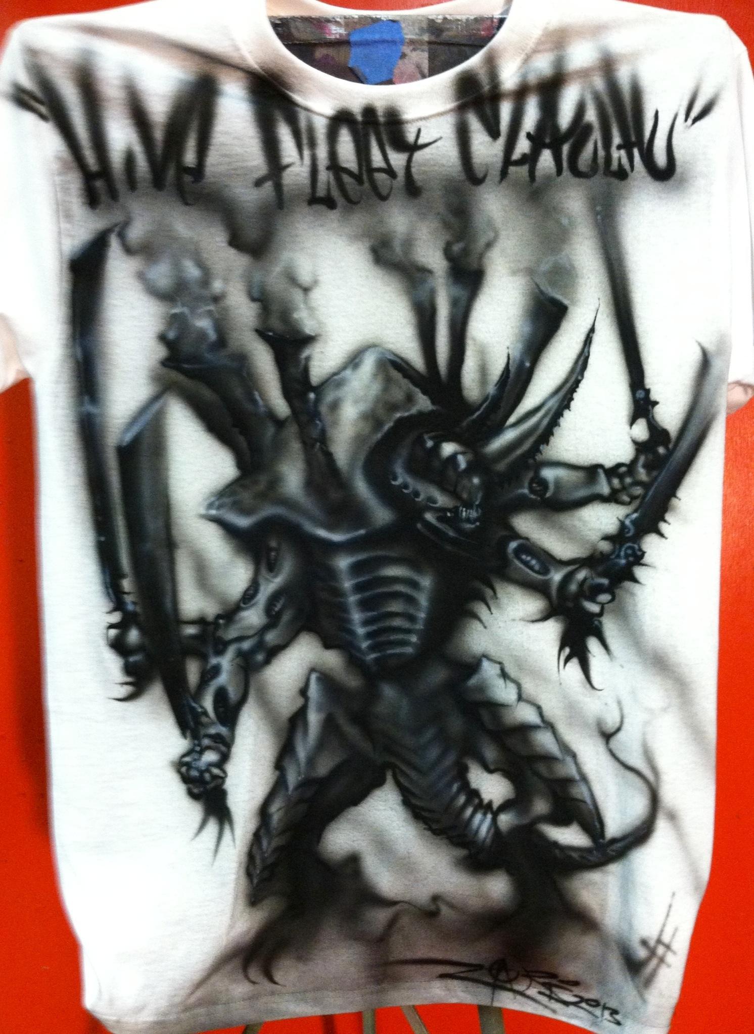 Airbrush, Airbrushed, Shirt, Swarm Lord, Tyranids