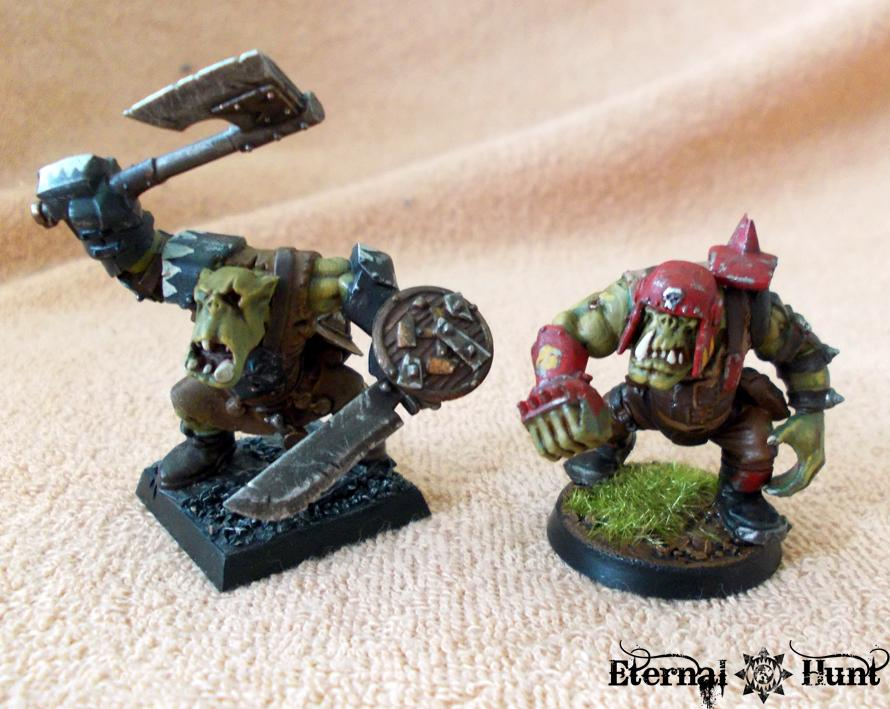Bb, Blood Bowl, Conversion, Goblins, Greenskins, Kitbash, Orcs, Orcs & Goblins, Orkheim Ultraz, Team, Warhammer Fantasy, Wfb
