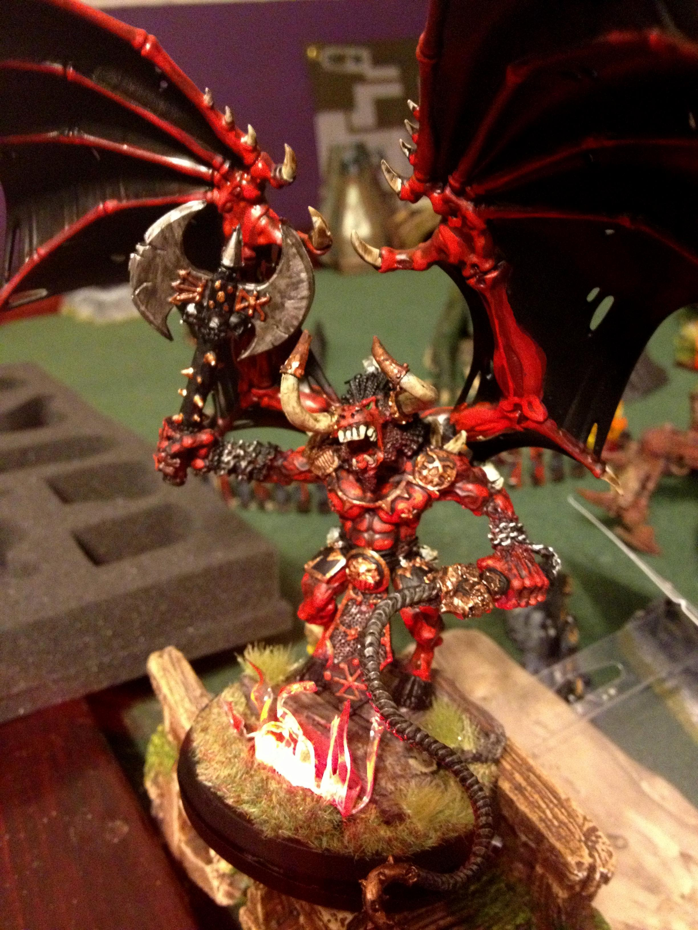 Bloodthirster, Chaos, Daemon Prince, Get In The Game Painting Blog, Khorne