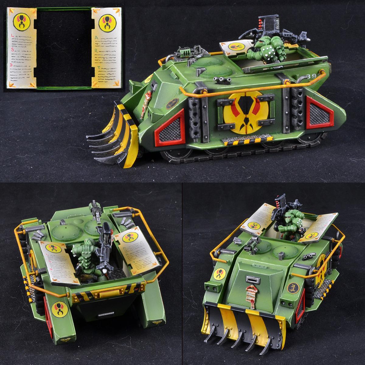 Mantis Warriors, Open Hatch, Rhino, Space Marines, Warhammer 40,000