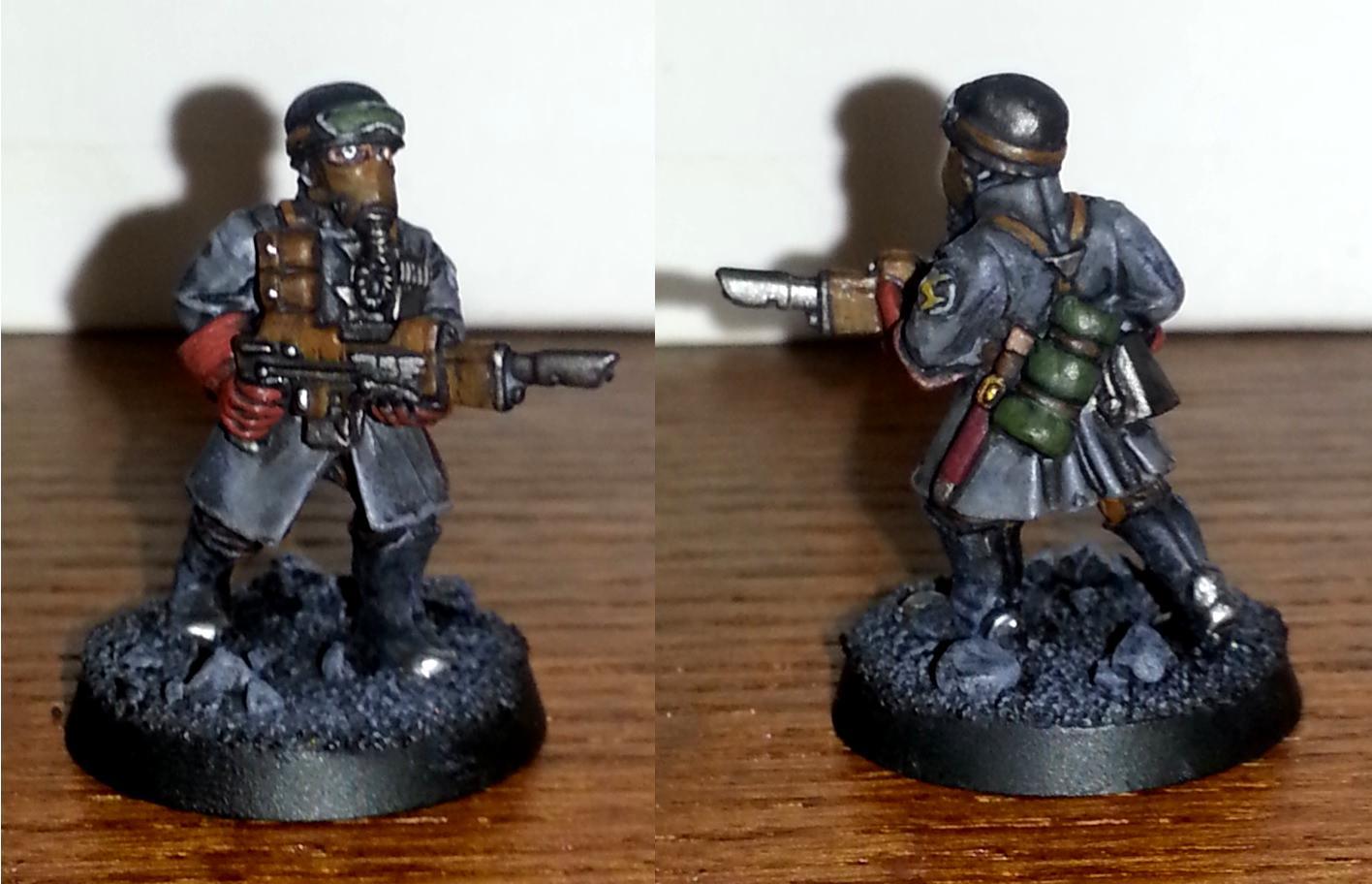 Brown, Gray, Grey, Guardsmen, Imperial Guard, Steel Legion