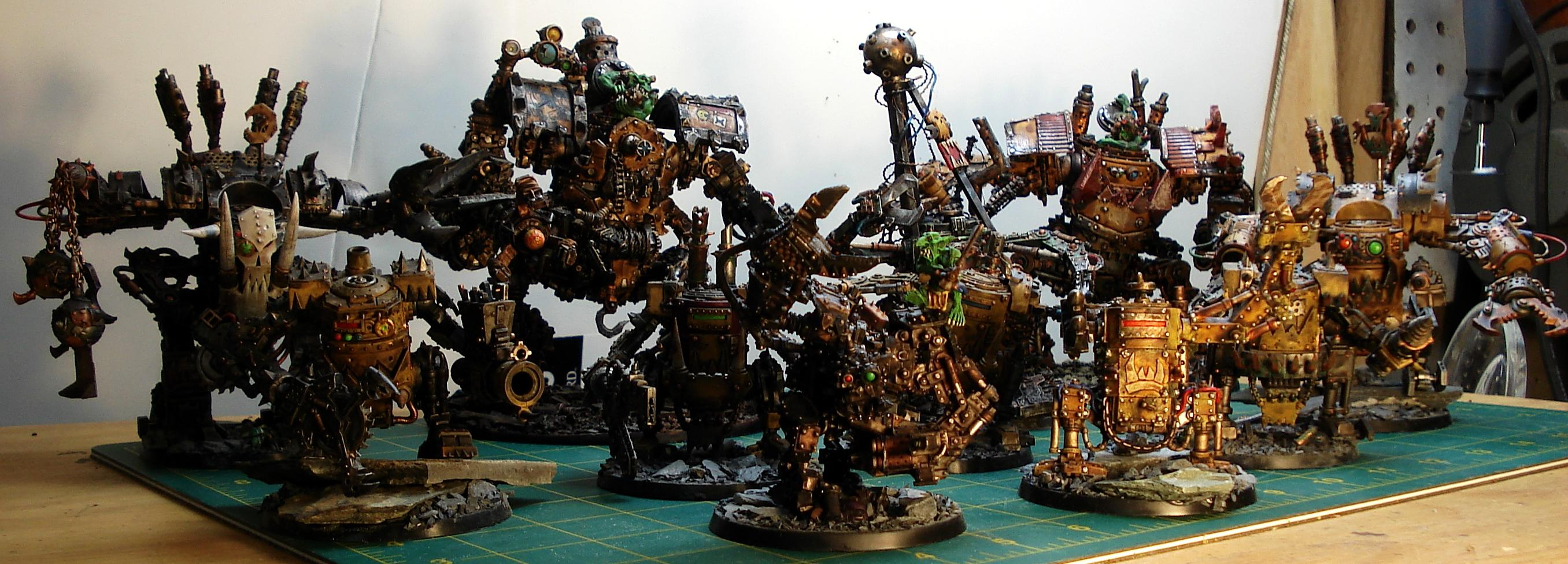 Bad, Claw, Comission, Custom, Deff, Dreadnought, Field, Force, Kustom, Mega, Moons, Orks, Scrap, Space, Space Marines, Trukk