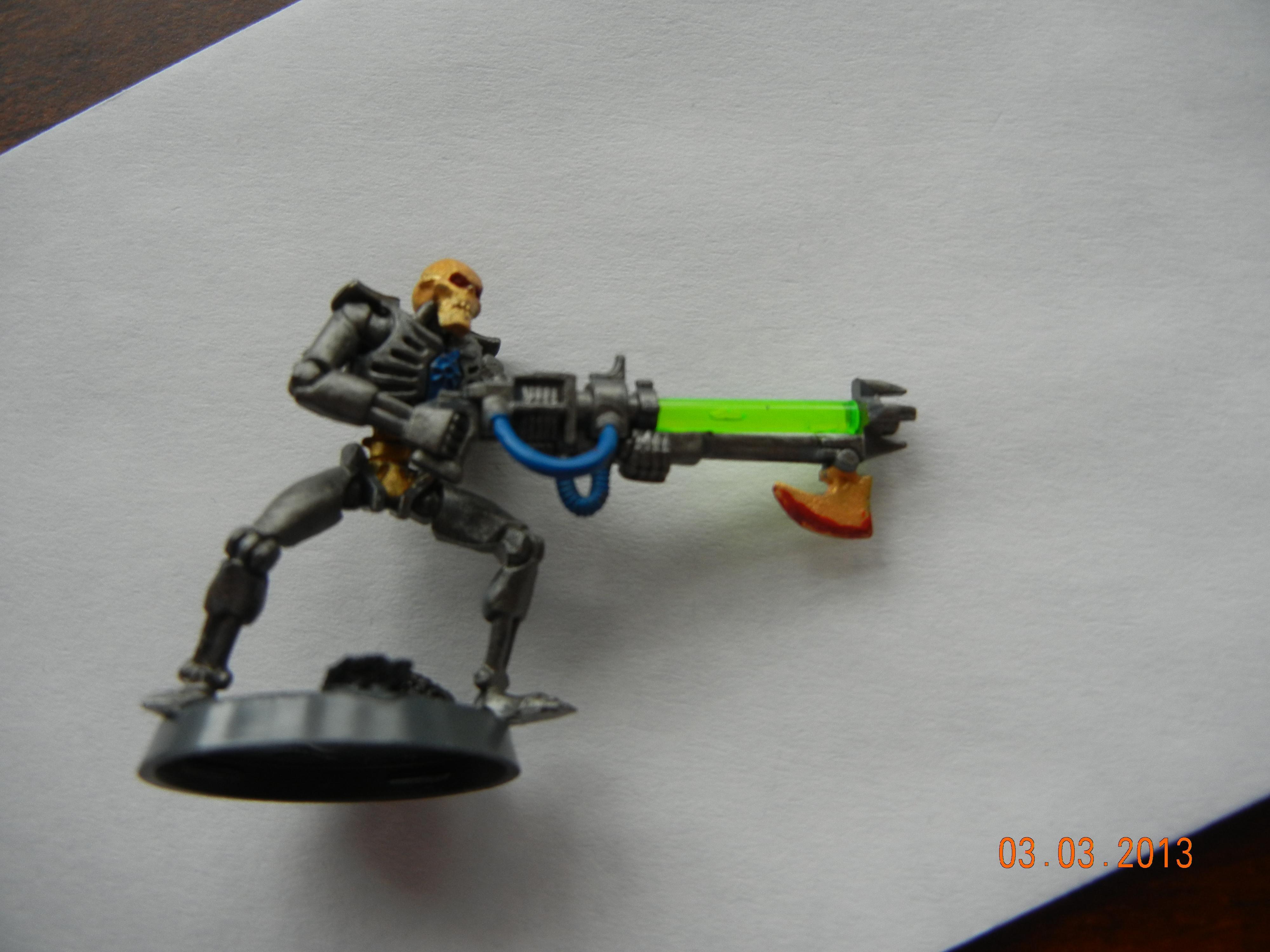 First, Necrons, Gun
