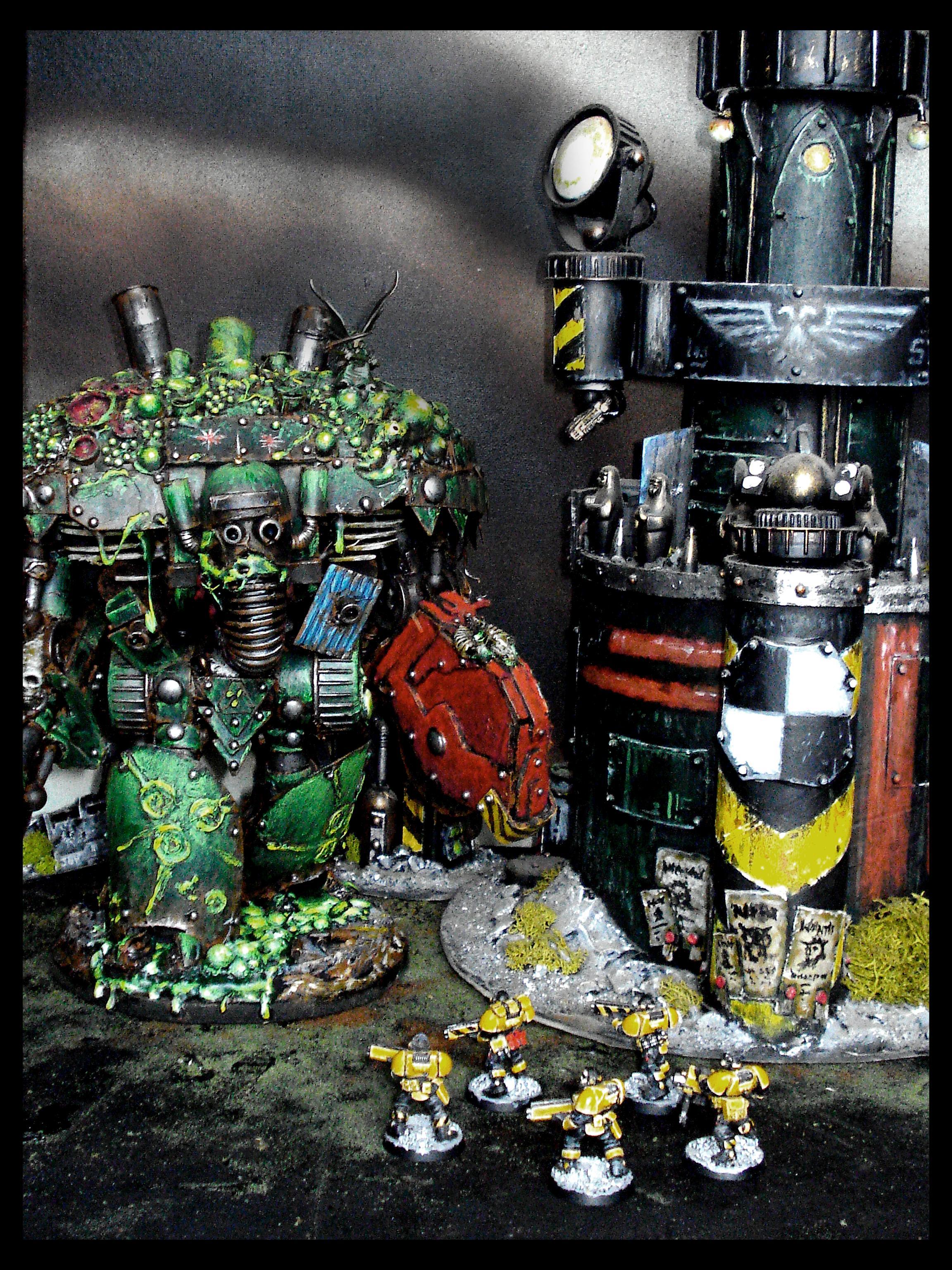 Chaos, Knights, Nurgle, Plague, Recycled, Scratch Build, Titan, Warhammer 40,000, Warhammer Fantasy