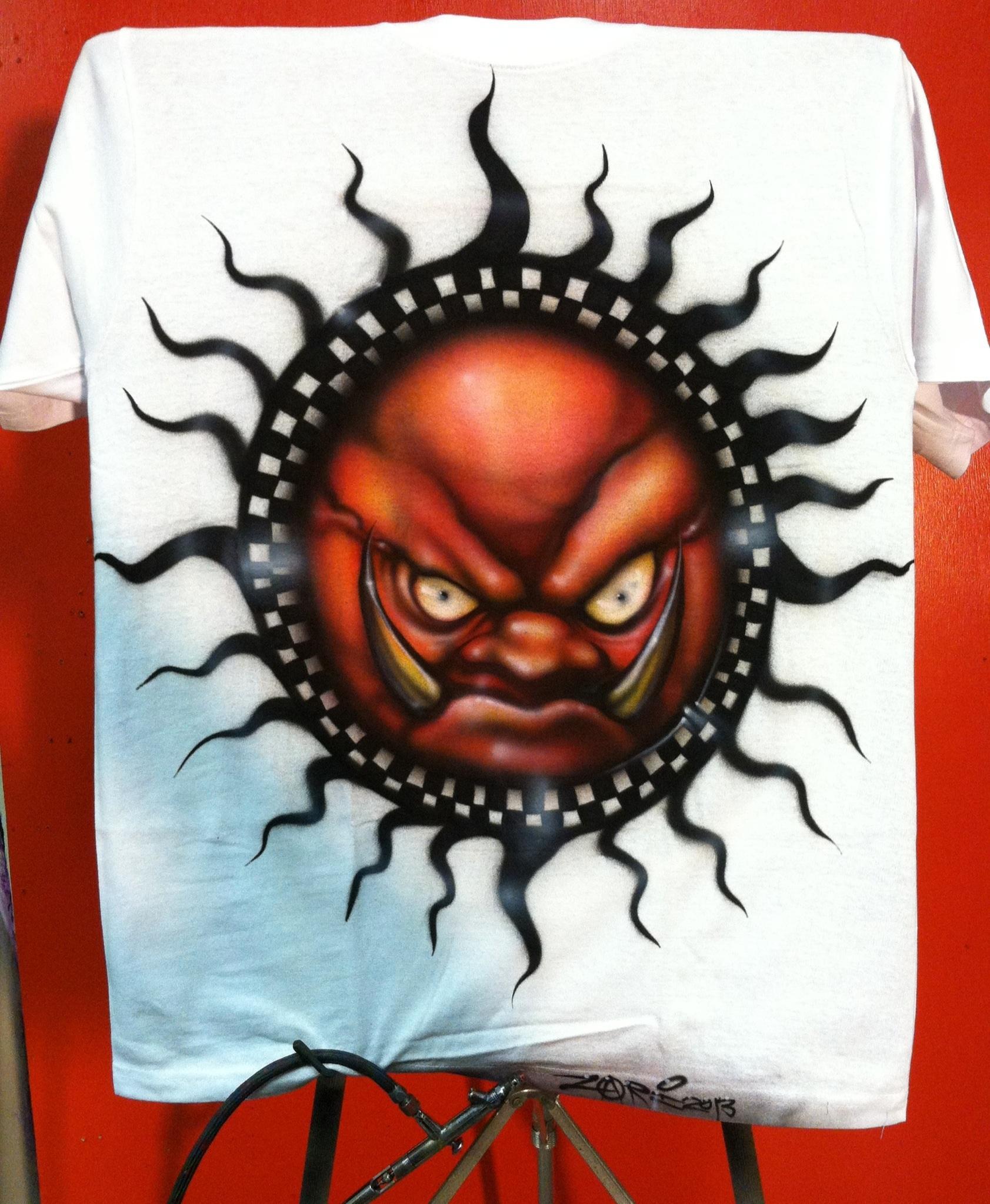 Airbrushed, Evil Sunz, Logo, Orks, Shirt, Symbol