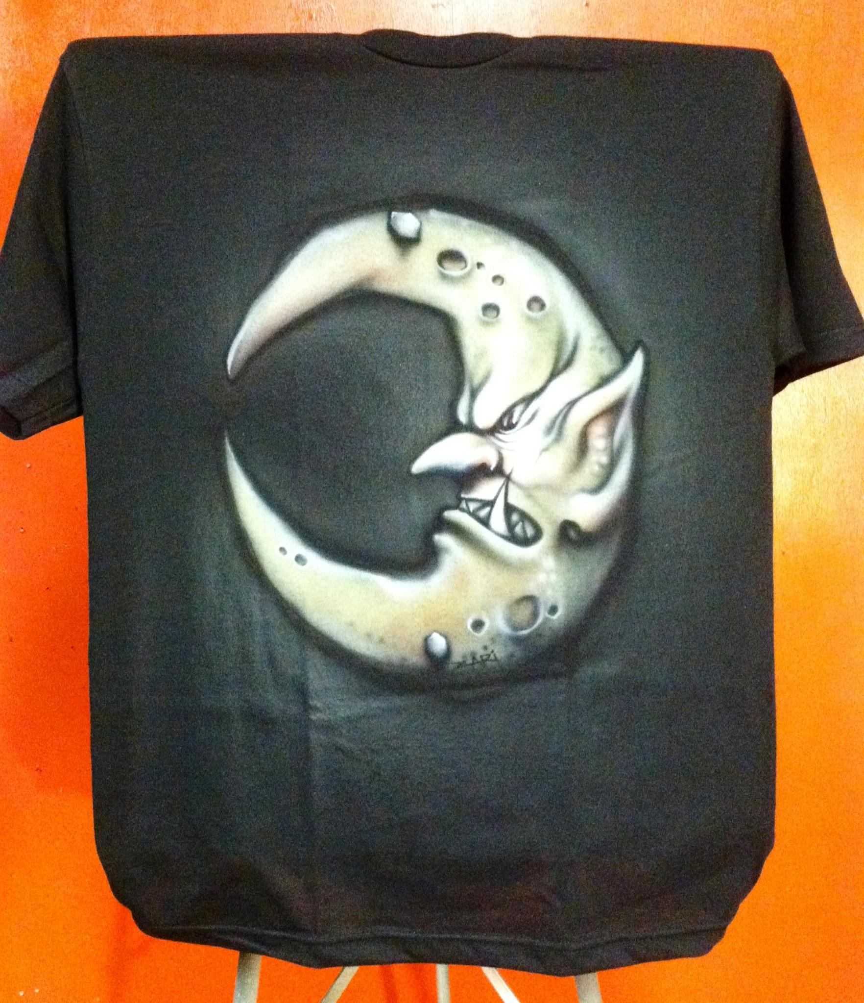 Airbrushed, Bad Moons, Logo, Orks, Shirt, Symbol