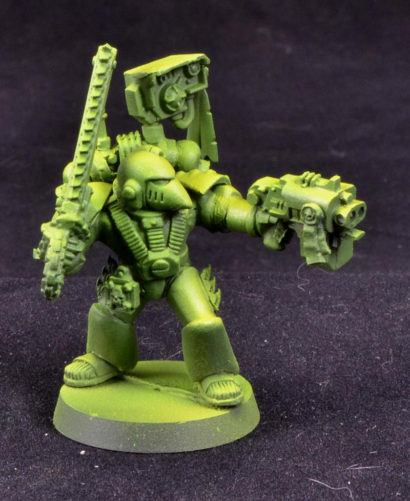 Devastator Sergeant, Mantis Warriors, Space Marines, Warhammer 40,000, Work In Progress