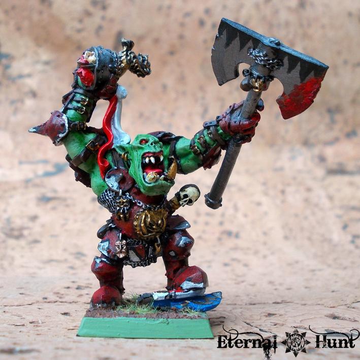 Goblins, Greenskins, Grimgork Ironhide, Old Stuff, Orcs, Orcs & Goblins, Paintjob, Warhammer Fantasy, Wfb