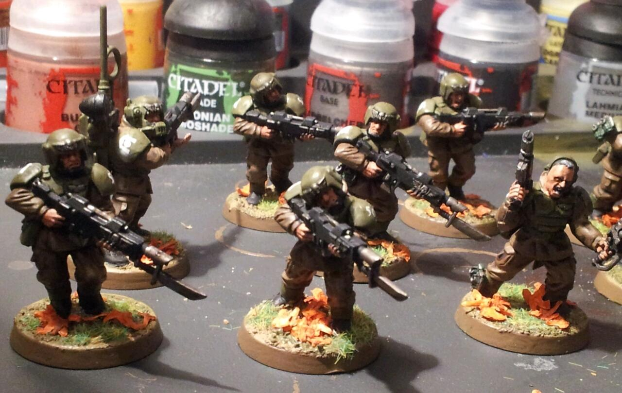 Cadians, Forest, Imperial Guard, Leaves, Wood