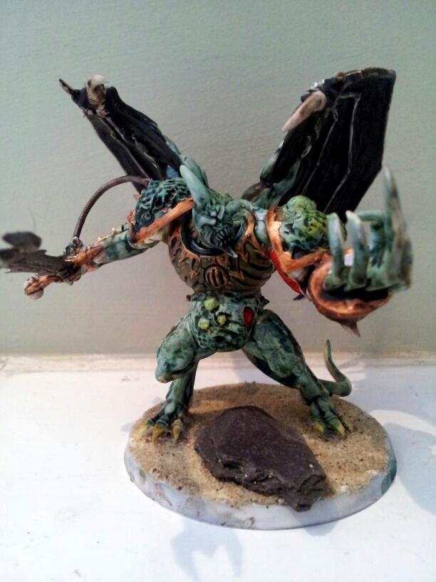 Chaos, Conversion, Daemon Prince, Daemons, Greenstuff, Nurgle, Plague