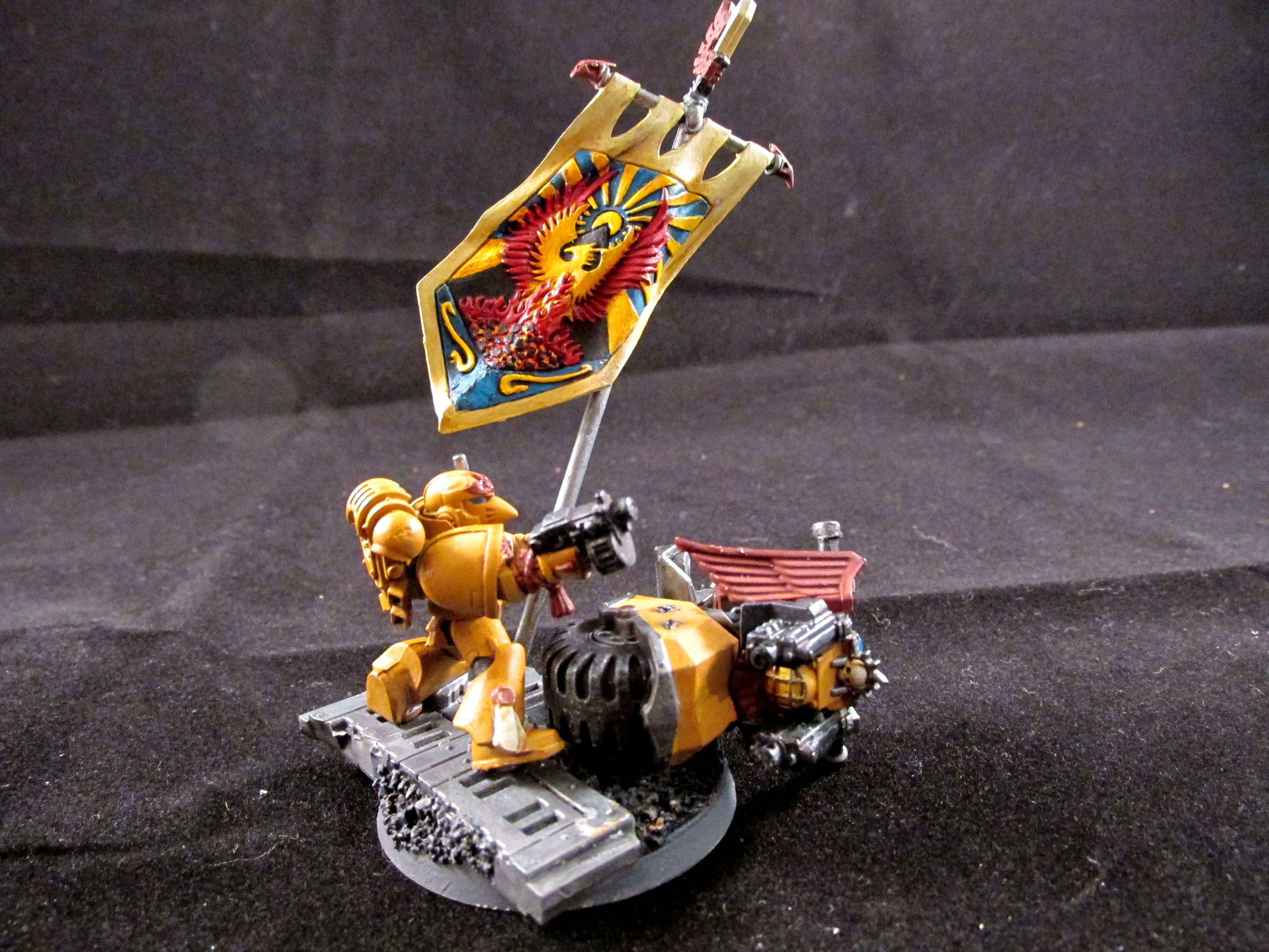 Banner, Bike, Fire Hawks