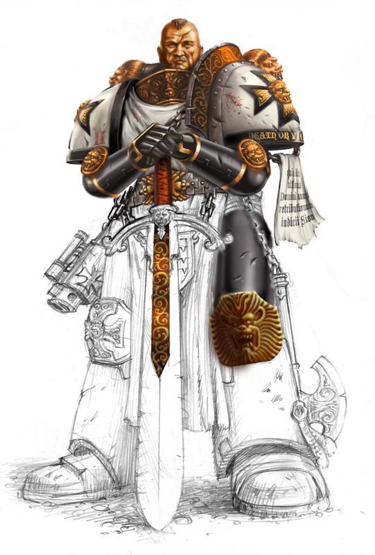 Artwork, Black Templars, Drawing, Illustration, Photoshop, Sketch, Space Marines, Wacom Tablet