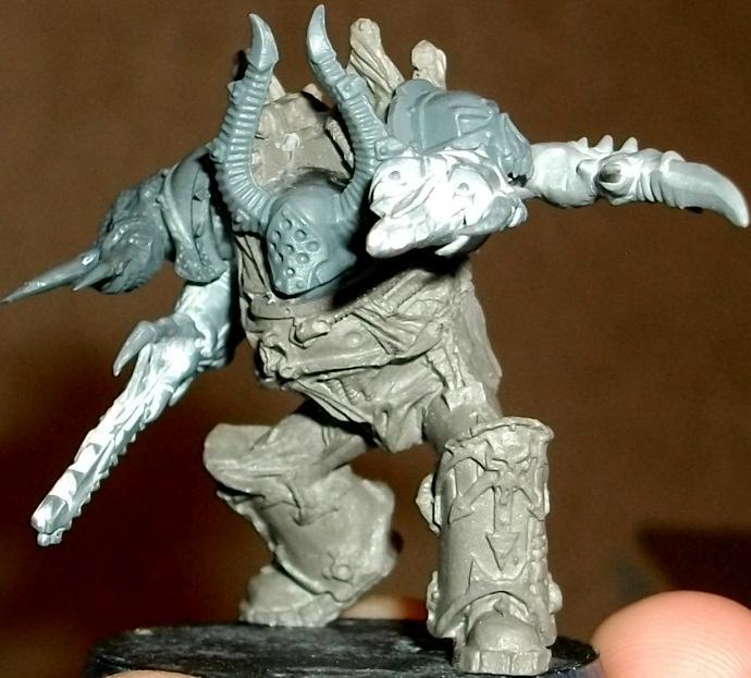 Chaos Space Marines, Conversion, Mutilators, Terminator Armor, Work In Progress