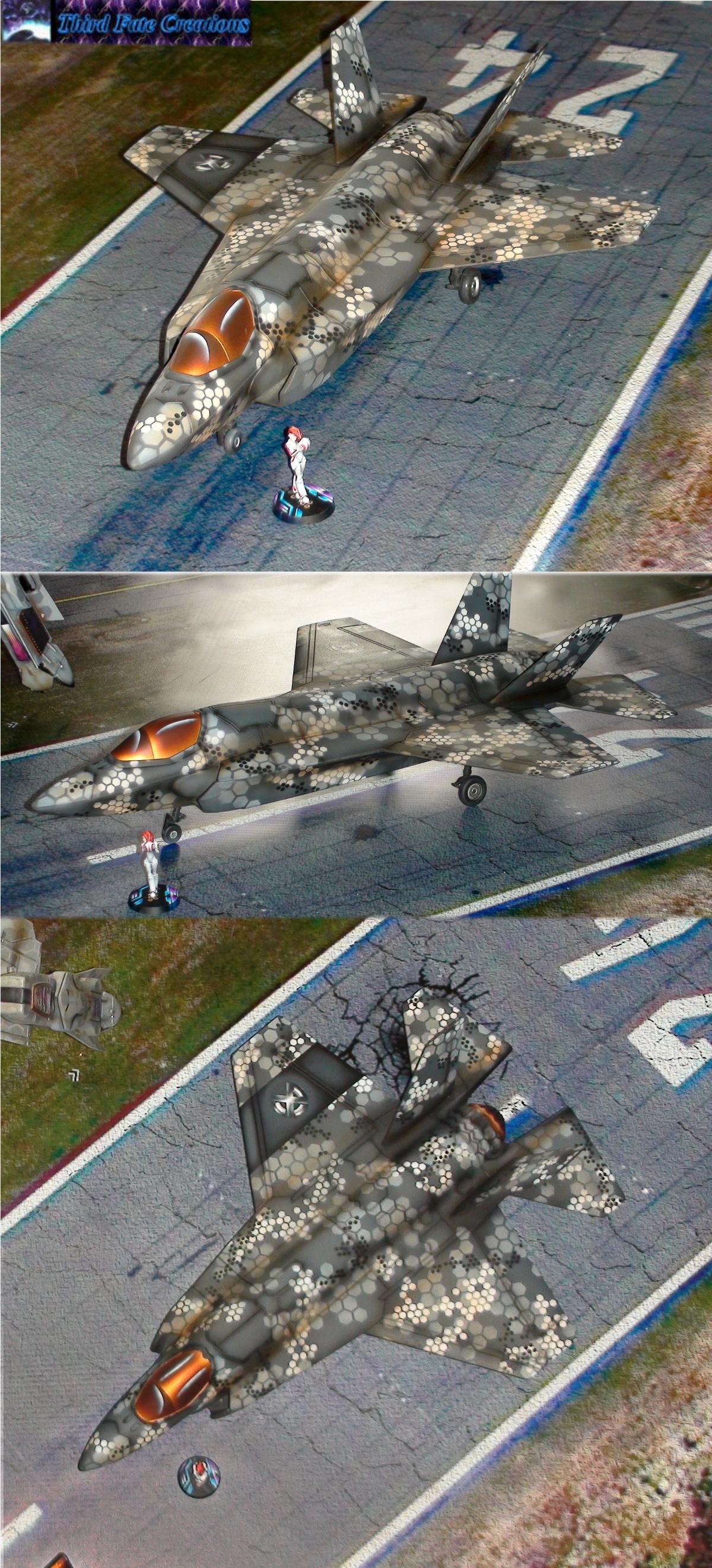 Airbrush, F-35, F35, Hexagon