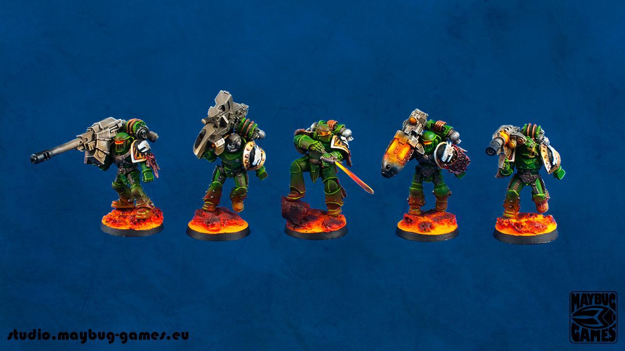 30k, Lava, Pre-heresy, Salamanders, Warhammer 40,000