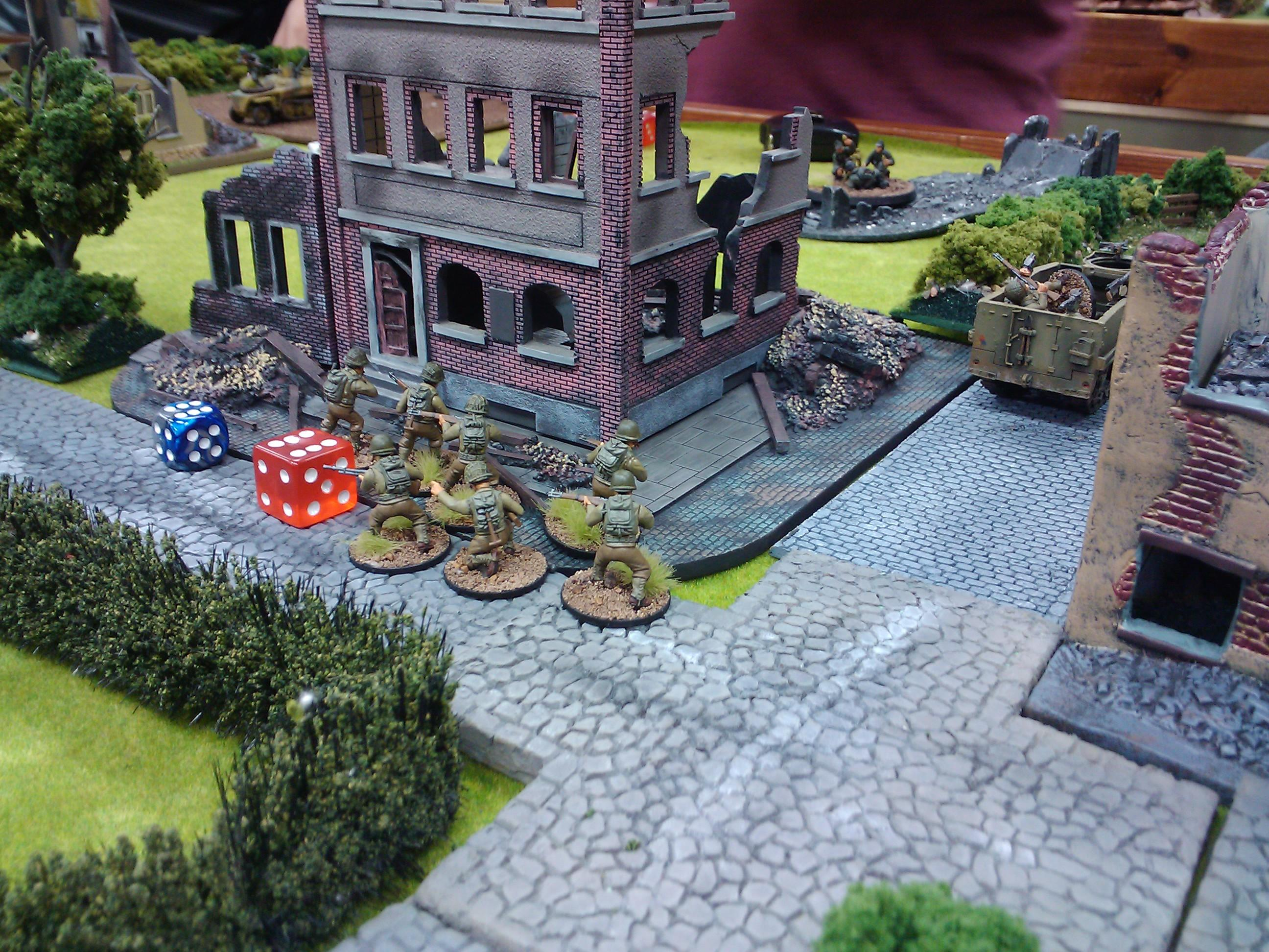 28mm, Army, Bolt Action, Demo, Game, Historical, Terrain, Us Army, Warlord Games, World War 2