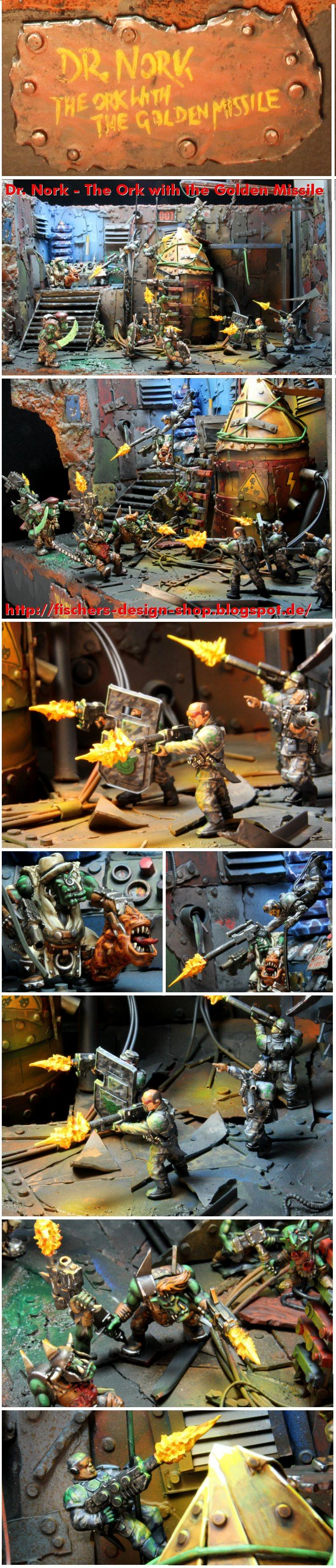Dr. Nork, Imperial Guard, James Bond, Larry Correia, Not Santa, Object Source Lighting, Orks, Rappelling, Urban Camo