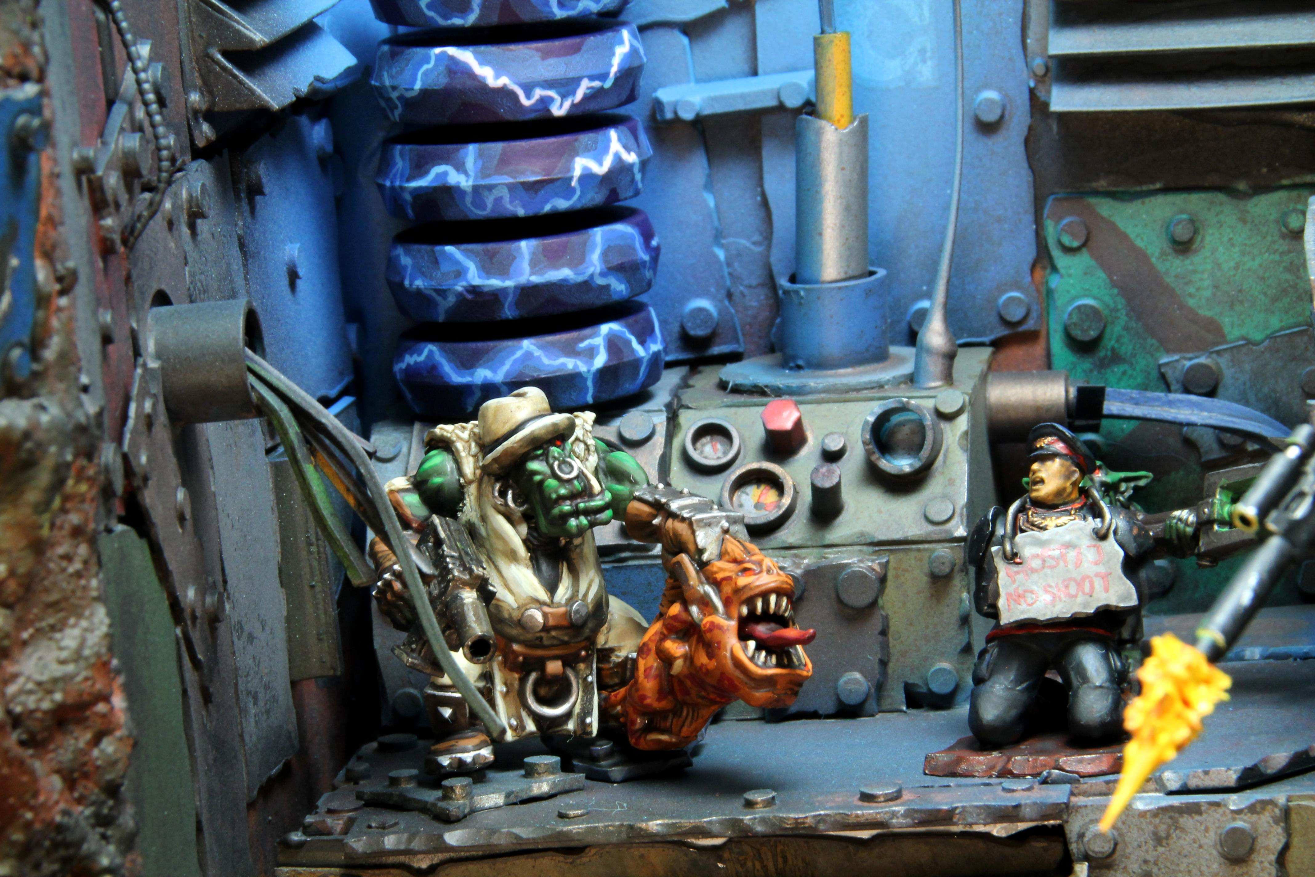 Diorama, Imperial Guard, Orks, Squigs, Warhammer 40,000