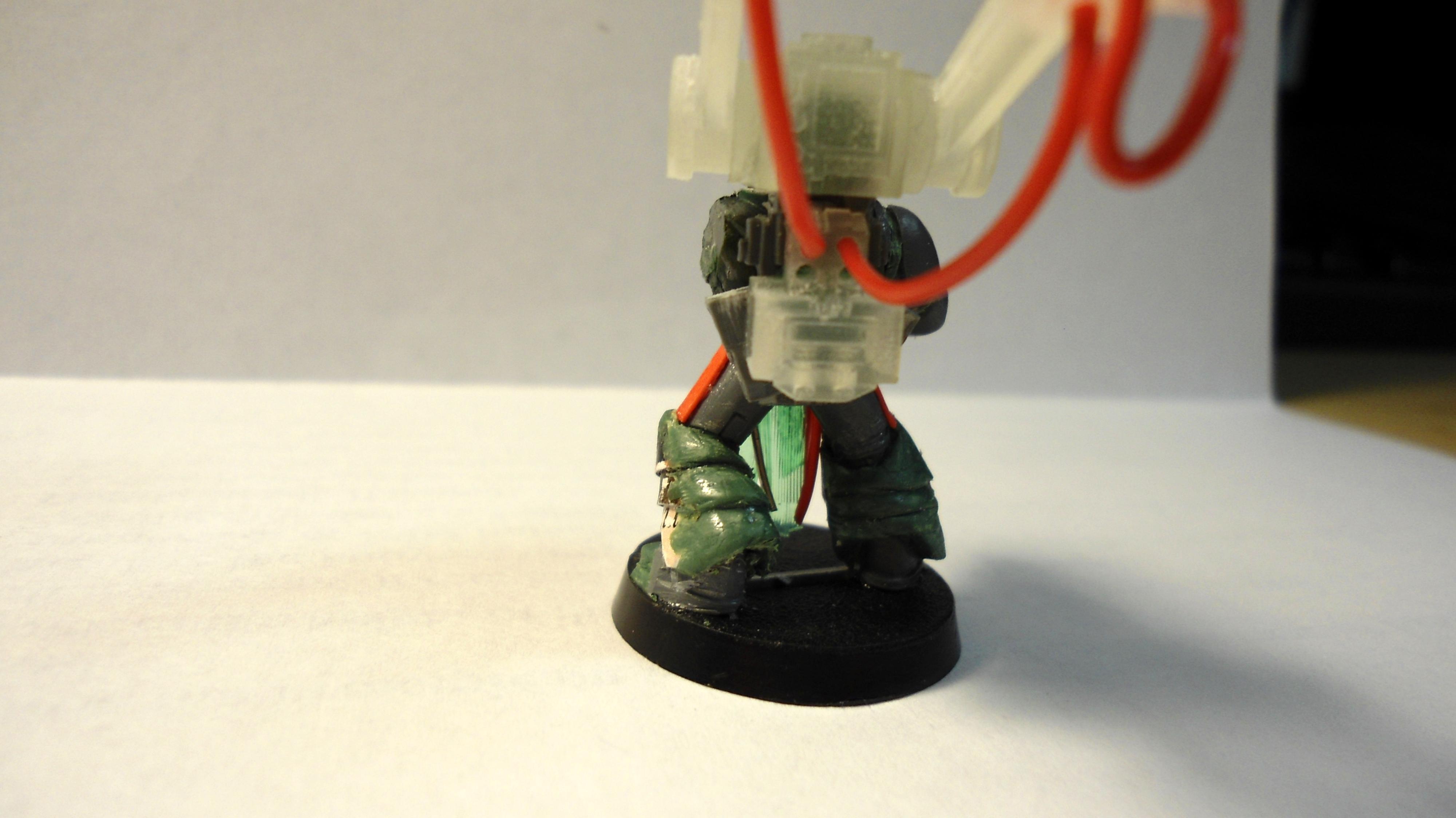 3d Printed, Conversion, Custom, Space Marines, Techmarine, Work In Progress