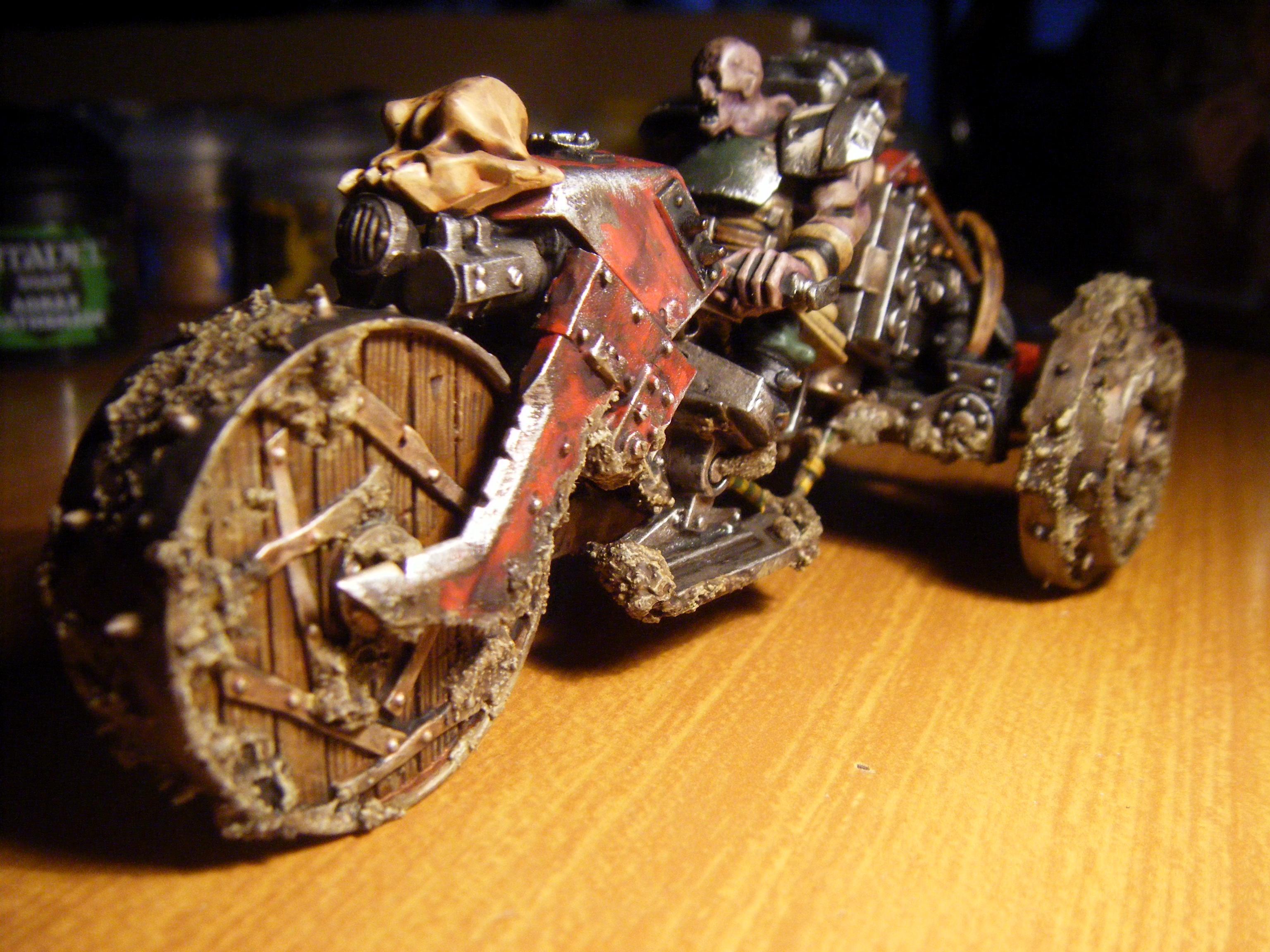 Motorcycle, Steampunk, Wood, Zombie