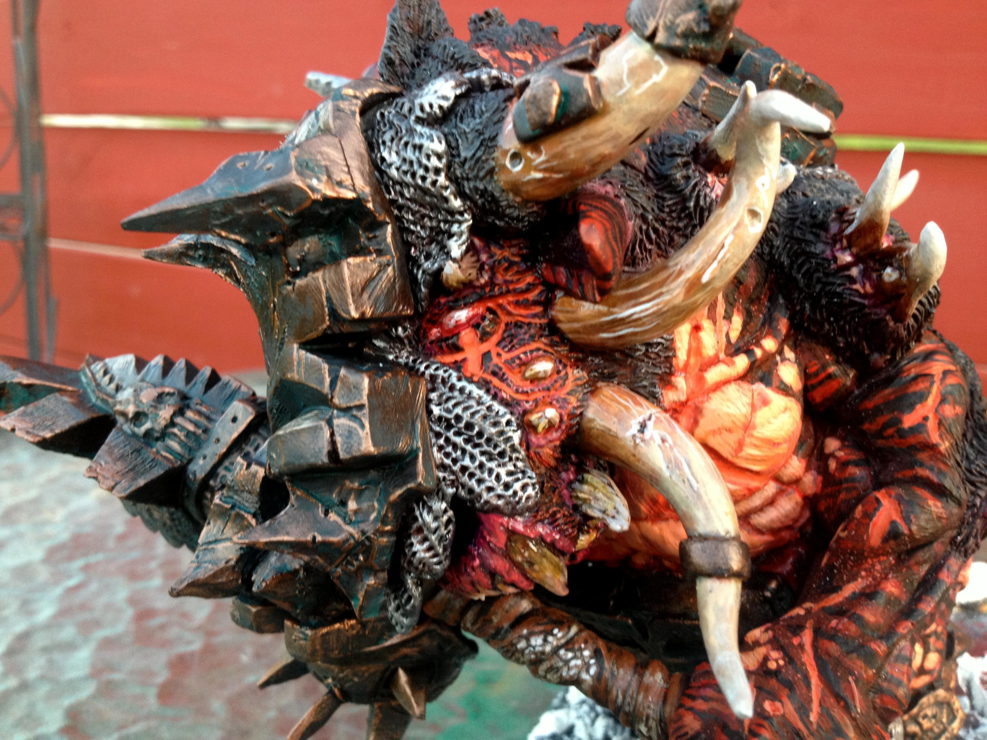 Blood, Bloodthirster, Daemons, Huge, Khorne, Ruins, Scratch Build, Snow, Terminator Armor, Warhammer 40,000, Warhammer Fantasy