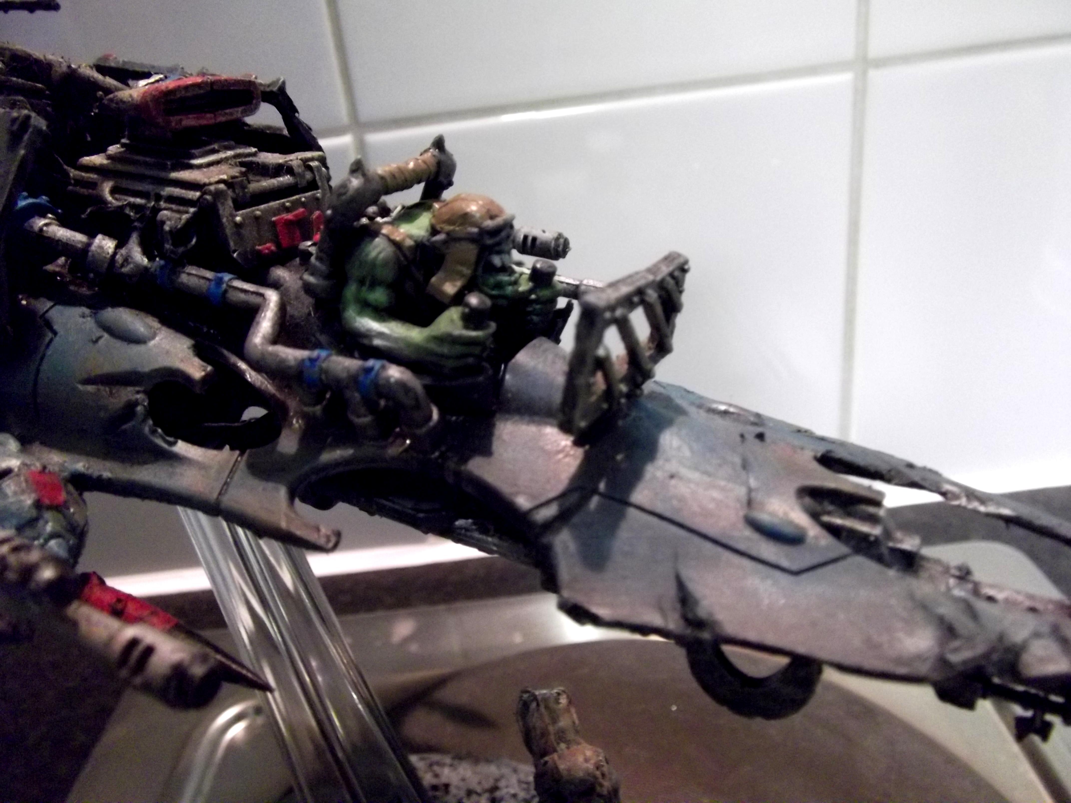 Conversion, Dakkjet, Dark Eldar, Jetfighter, Looted, Orks, Razorwing, Scratch Build