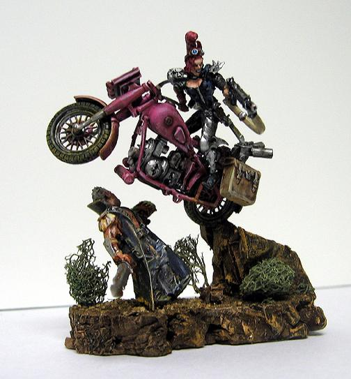 Bike, Diorama, Female, Necromunda