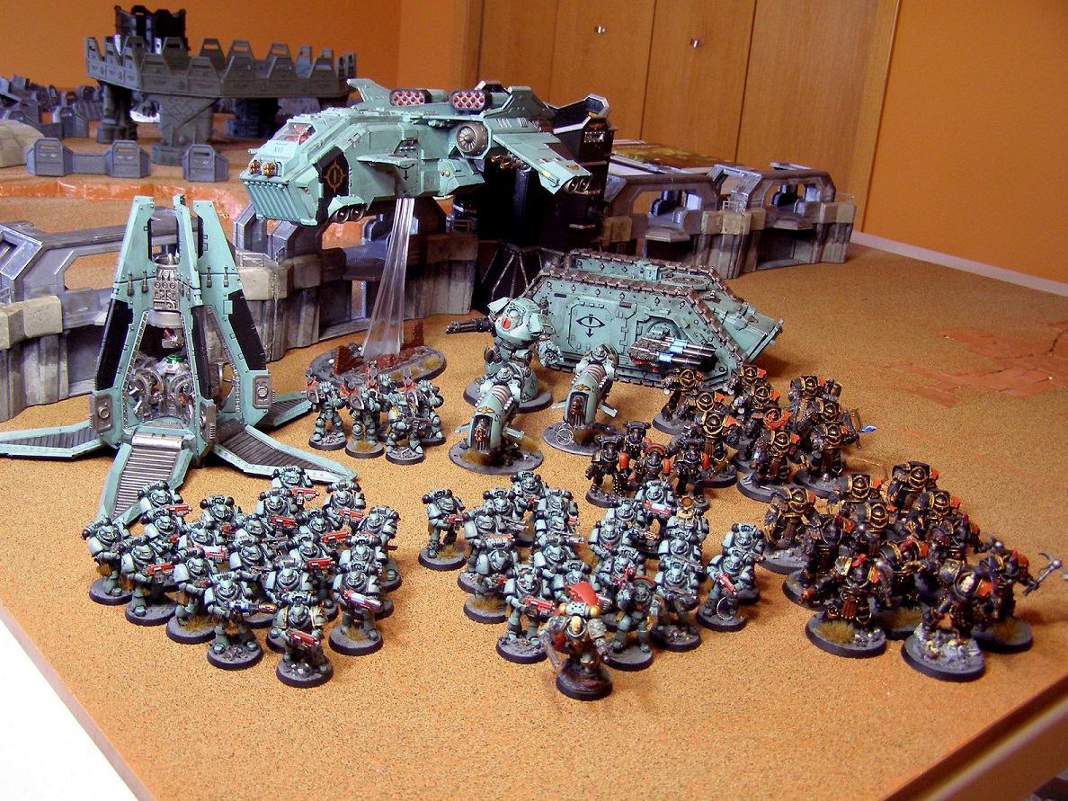Army, Contemptor Dreadnought, Ezekyle Abaddon, Forge World, Garviel Loken, Mkiv Maximus, Scimitar Jetbikes, Sons Of Horus, Spartan Assault Tank, Stormeagle Gunship