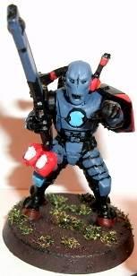 Based, Blue, Fire Warriors, Leader, Painted, Red, Sergeant, Tau, Team Leader, Trooper, Troops