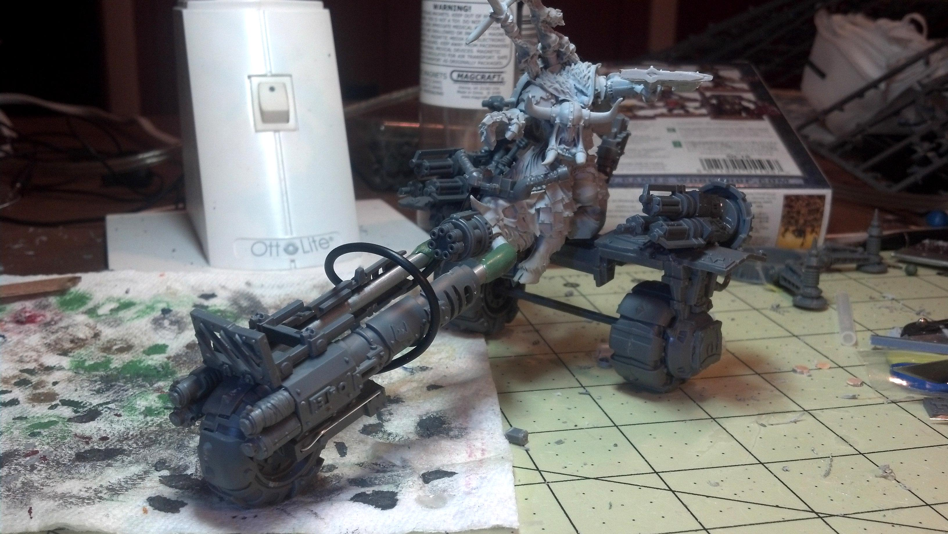 Bike, Boss, Conversion, Custom, Dakka Dakka, Gorbad, Green, Ironclaw, Orks, Scratch, Trike, War, Warbike, Warboss