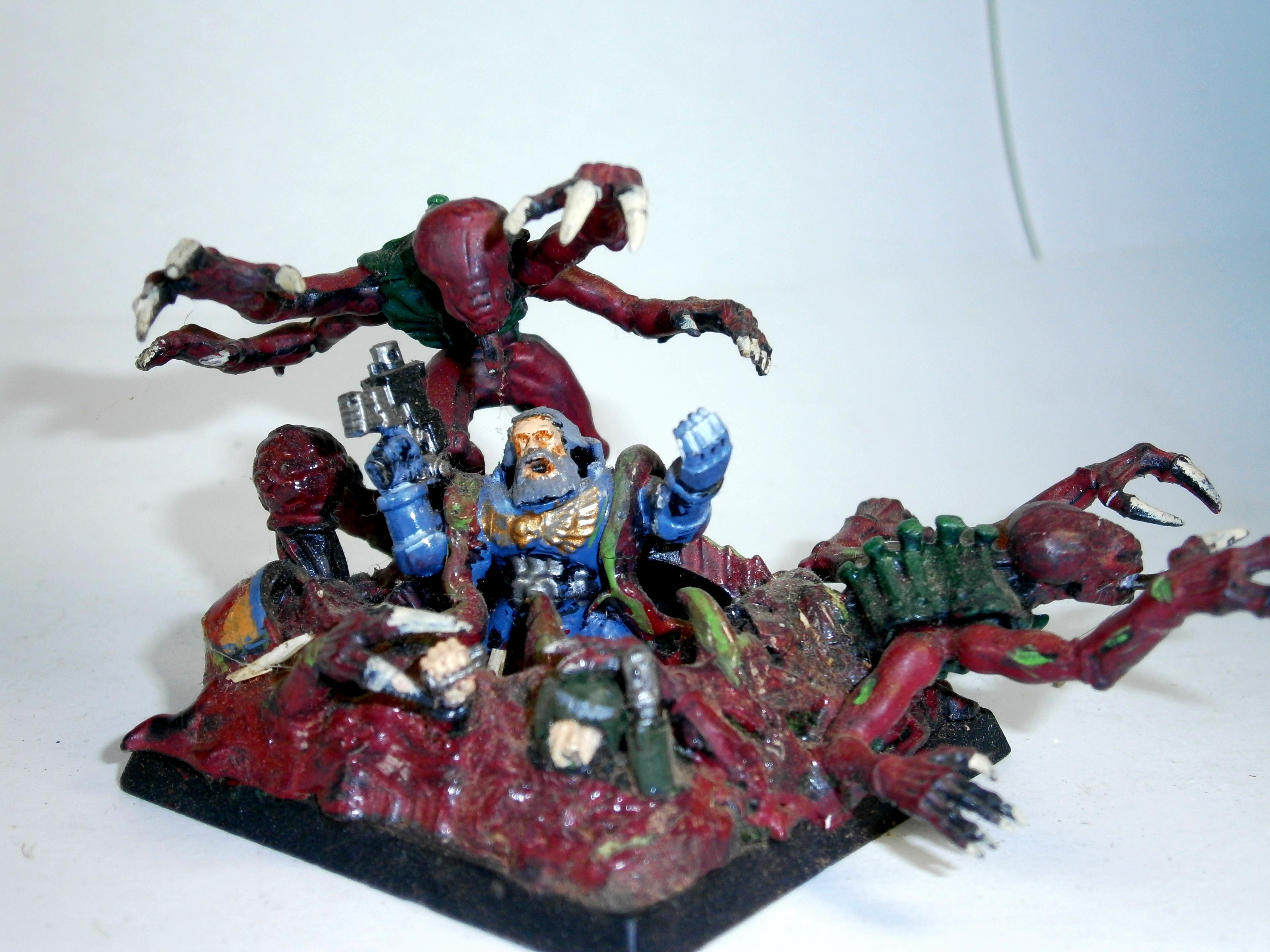 Diorama, Space Wolves, Tyranids