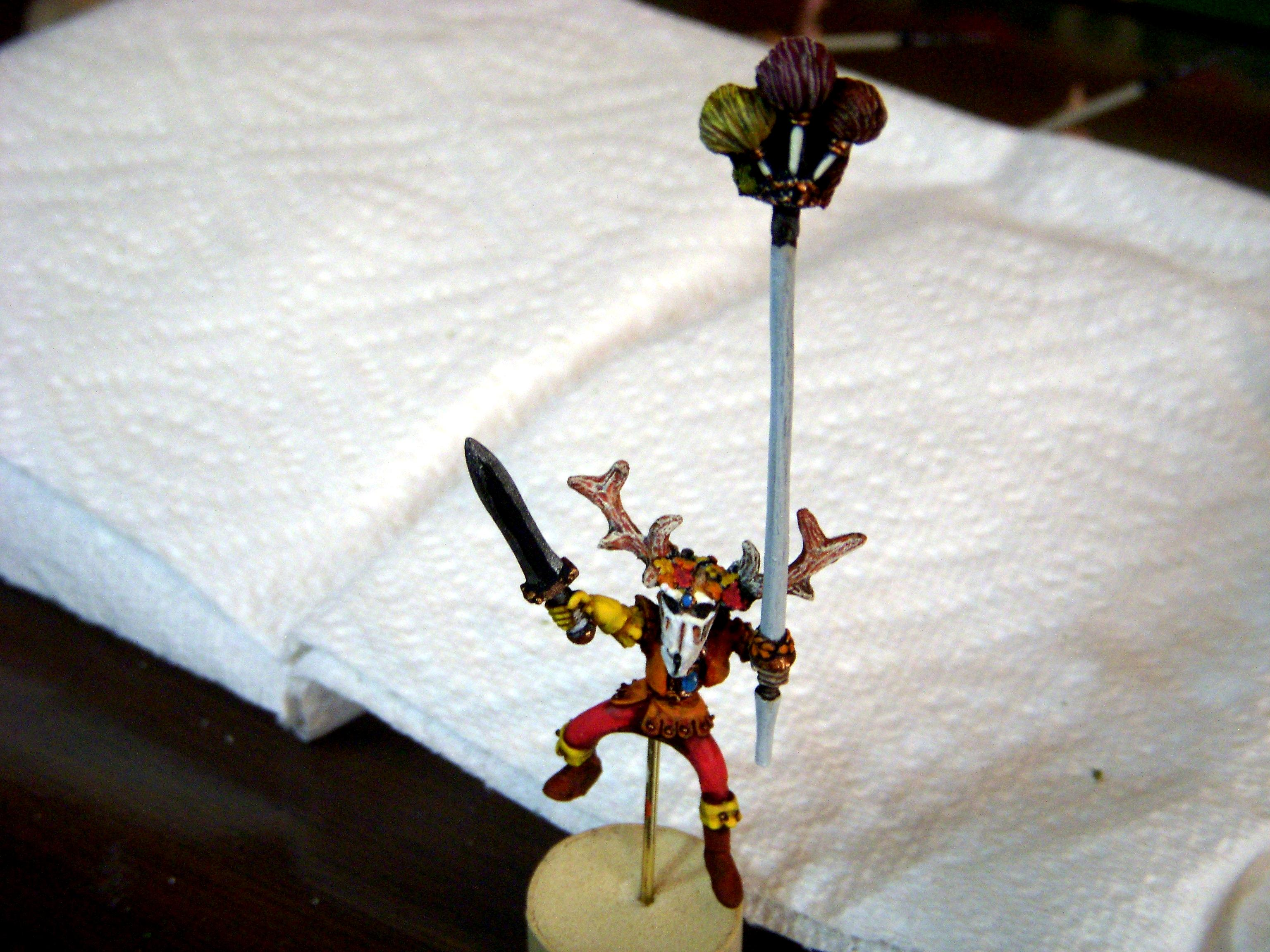 Wood Elves, Autumn-themed Wood Elf Glade Riders Completed 3