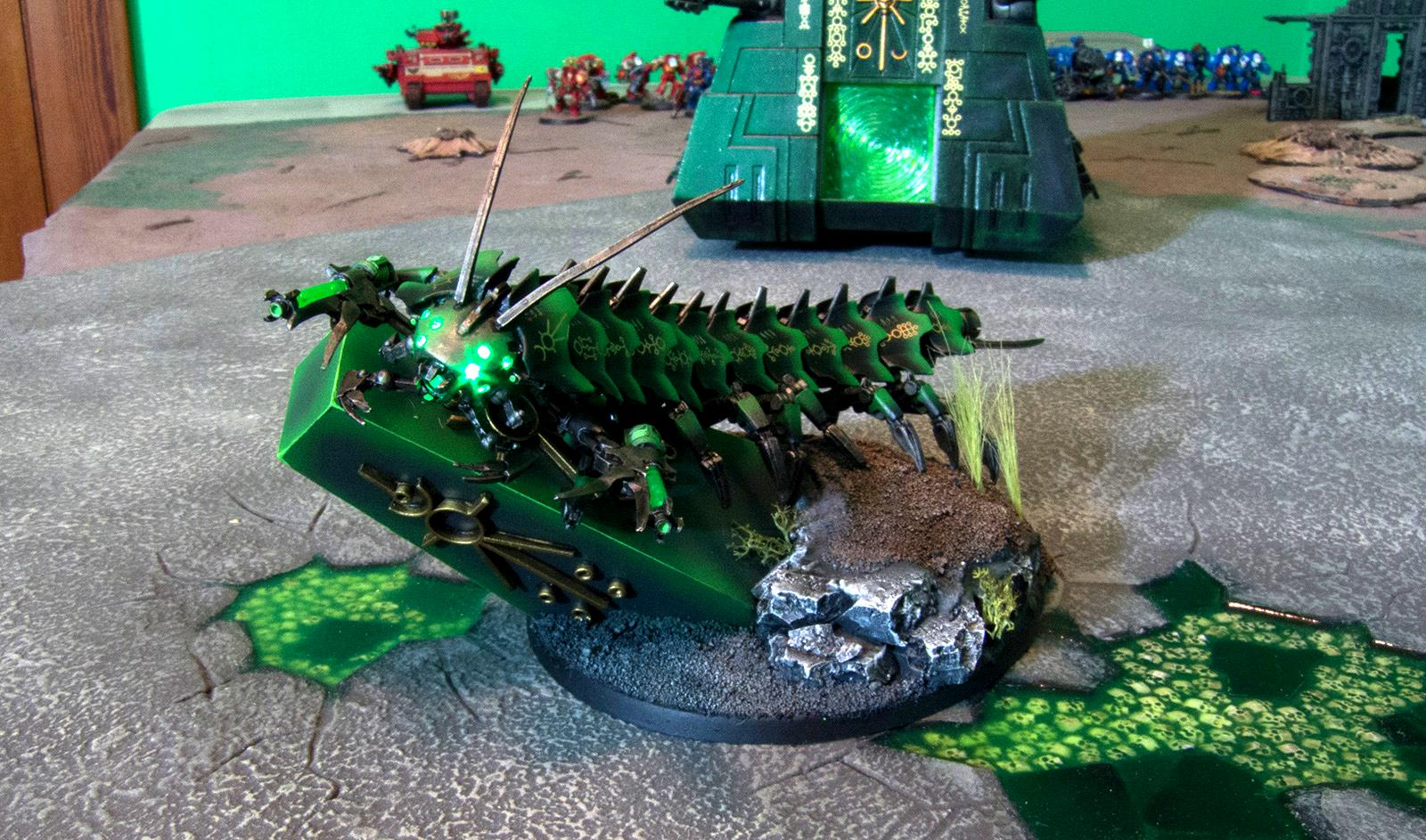 Conversion, Forge World, LED, Lighting, Necrons, Ouze, Tomb Stalker, Warhammer 40,000