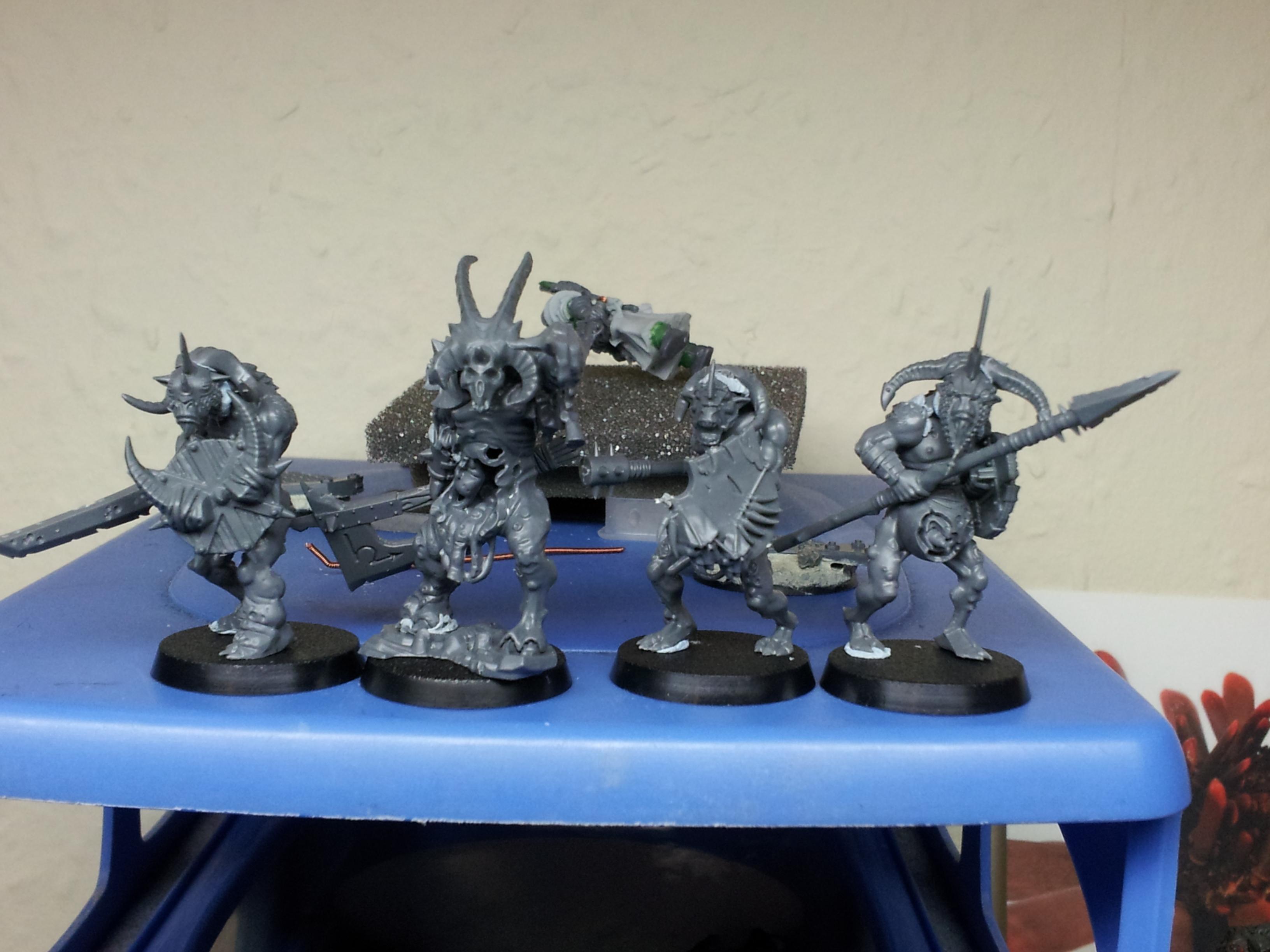 Beastmen, Chaos, Pestigor, Realm Of Chaos, Warhammer Fantasy, Work In Progress