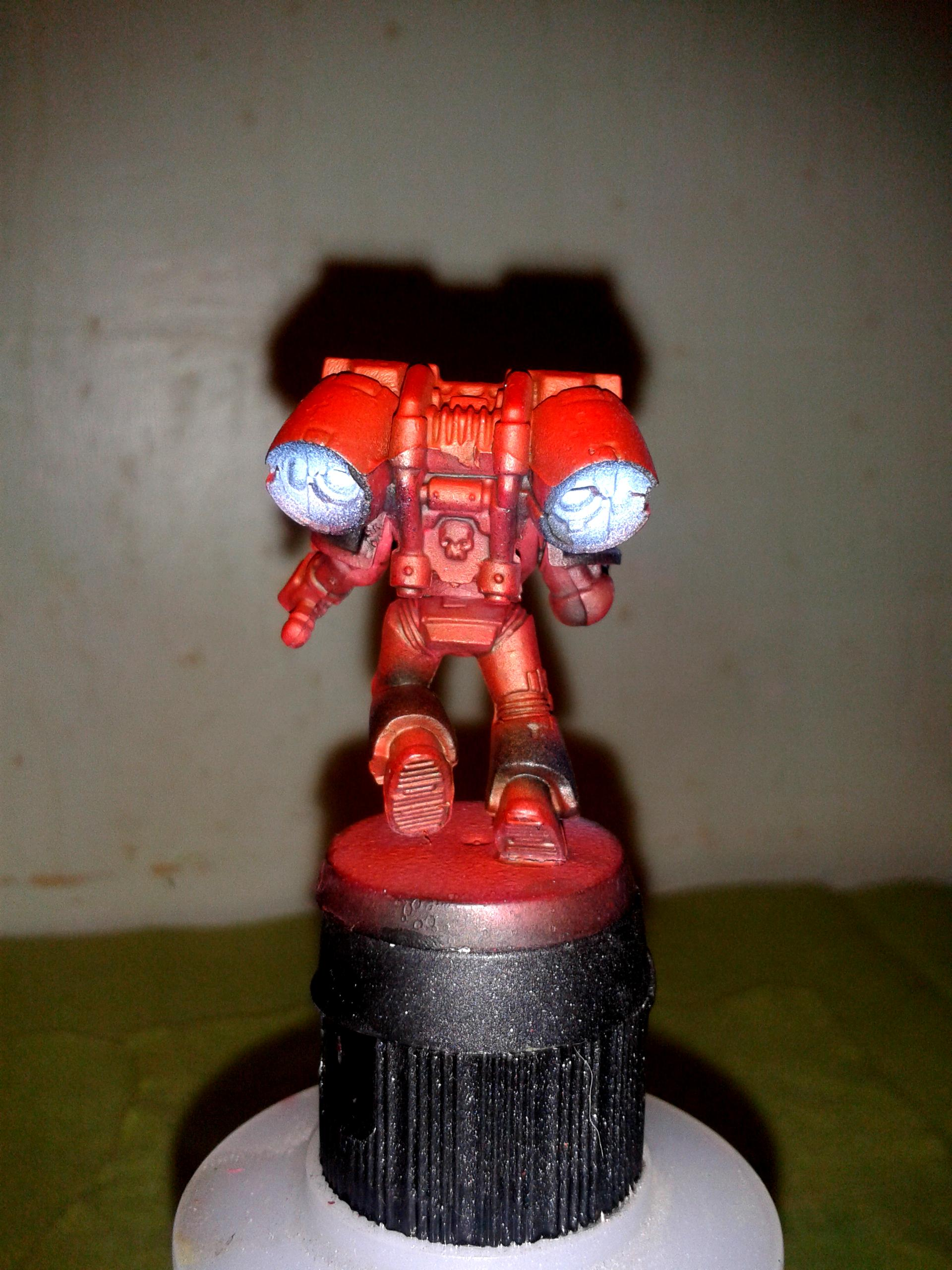 Airbrush, Blood Angels, Object Source Lighting, Space Marines, Warhammer 40,000