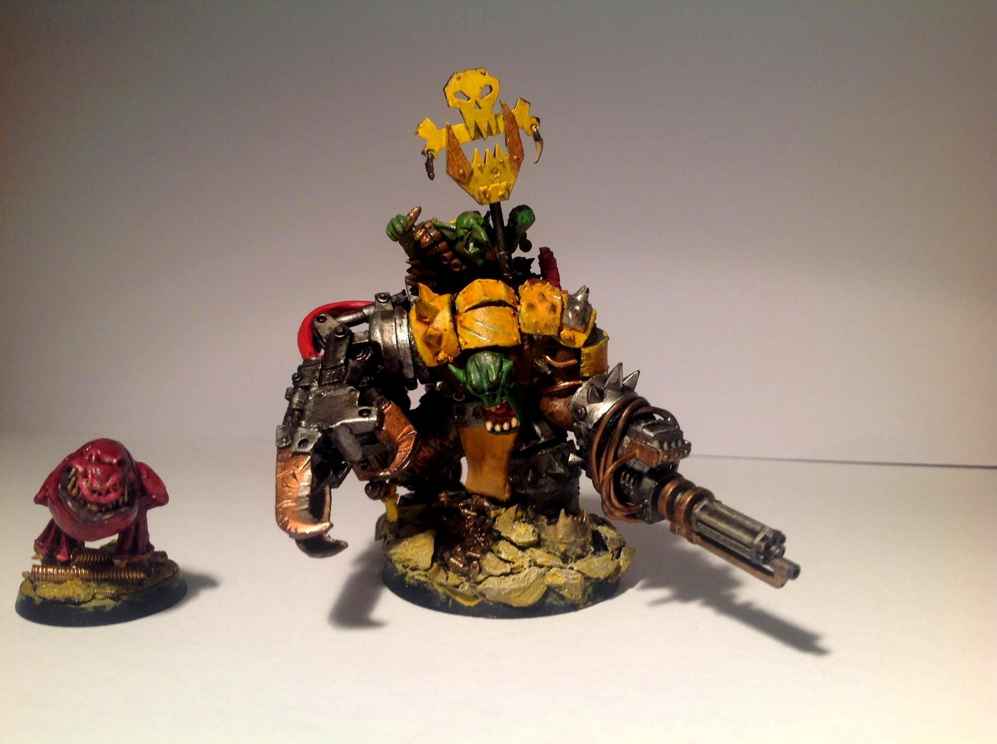 Attack Squig, Cybork, Orks, Warboss, Warhammer 40,000