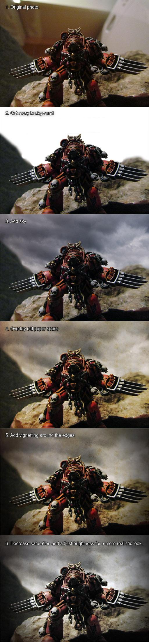 Space Hulk terminator - background swap and touchup - WIP sequence