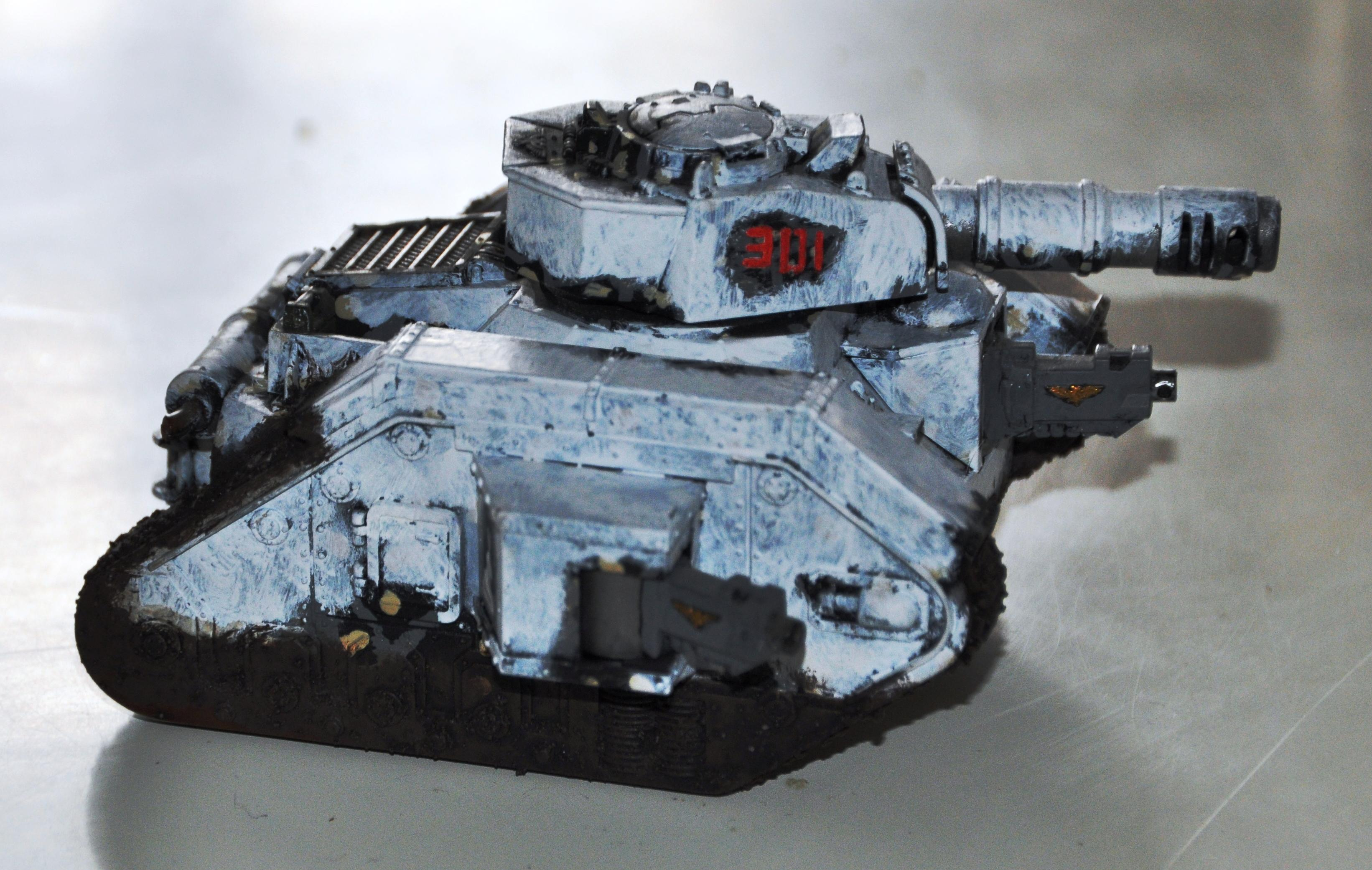 Guard, Imperial, Imperiale Armee, Leman Russ, Snow, Tank, Winter, Winter Imperial Guard Snow