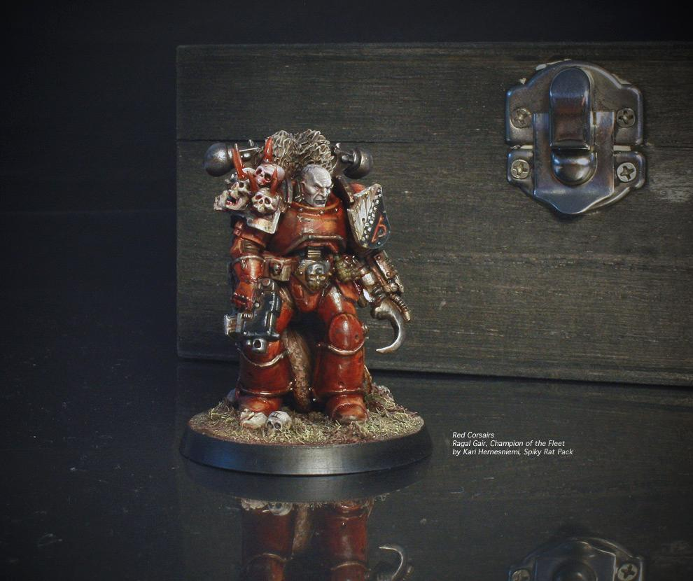 Chaos Space Marines, Pirate, Red Corsairs, Spiky Rat Pack, True Scale, Warhammer 40,000