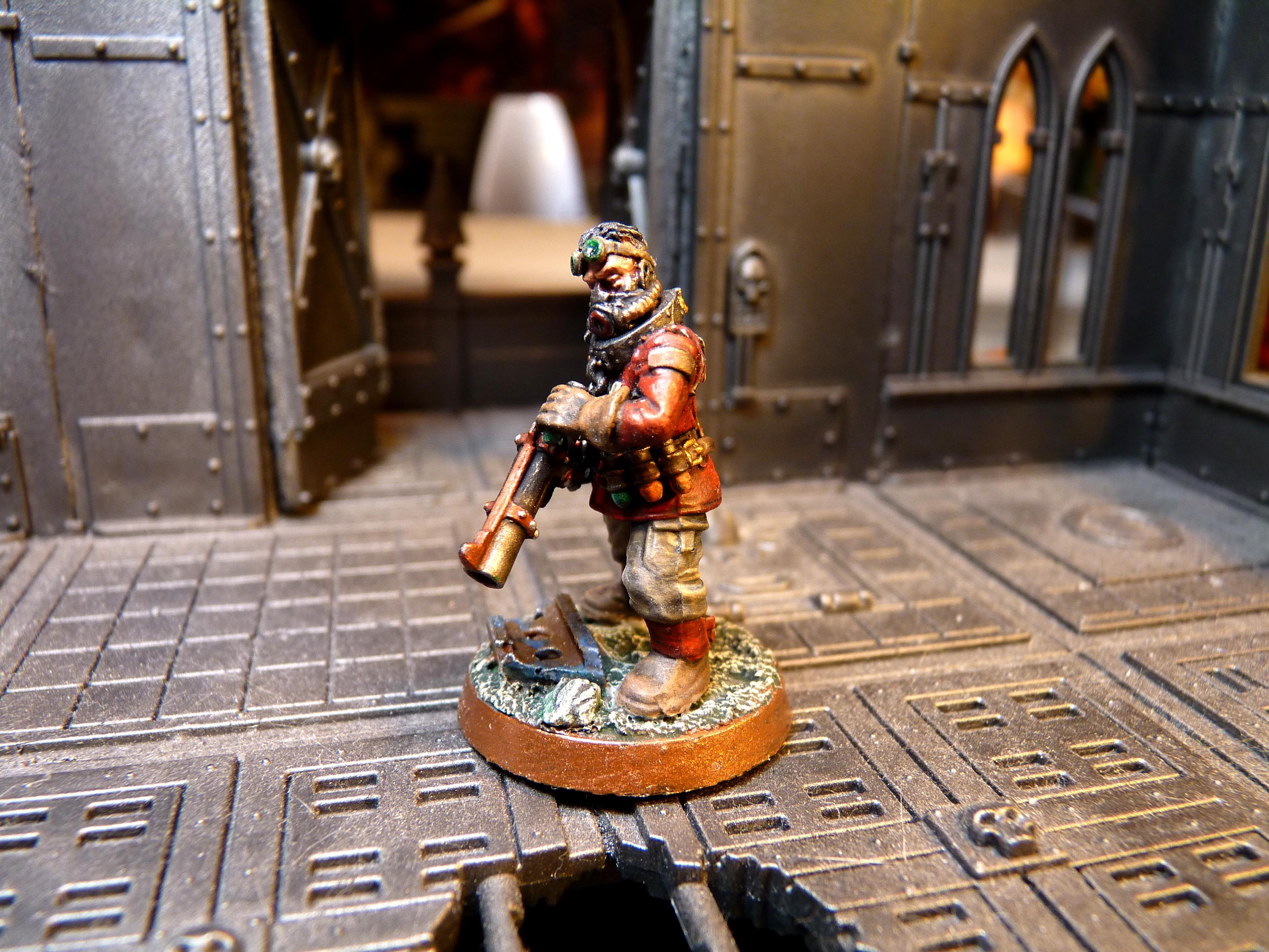 Chaos Renegades, Grenade Launcher, Imperial Guard, Renegade Guard, Victoria Miniatures