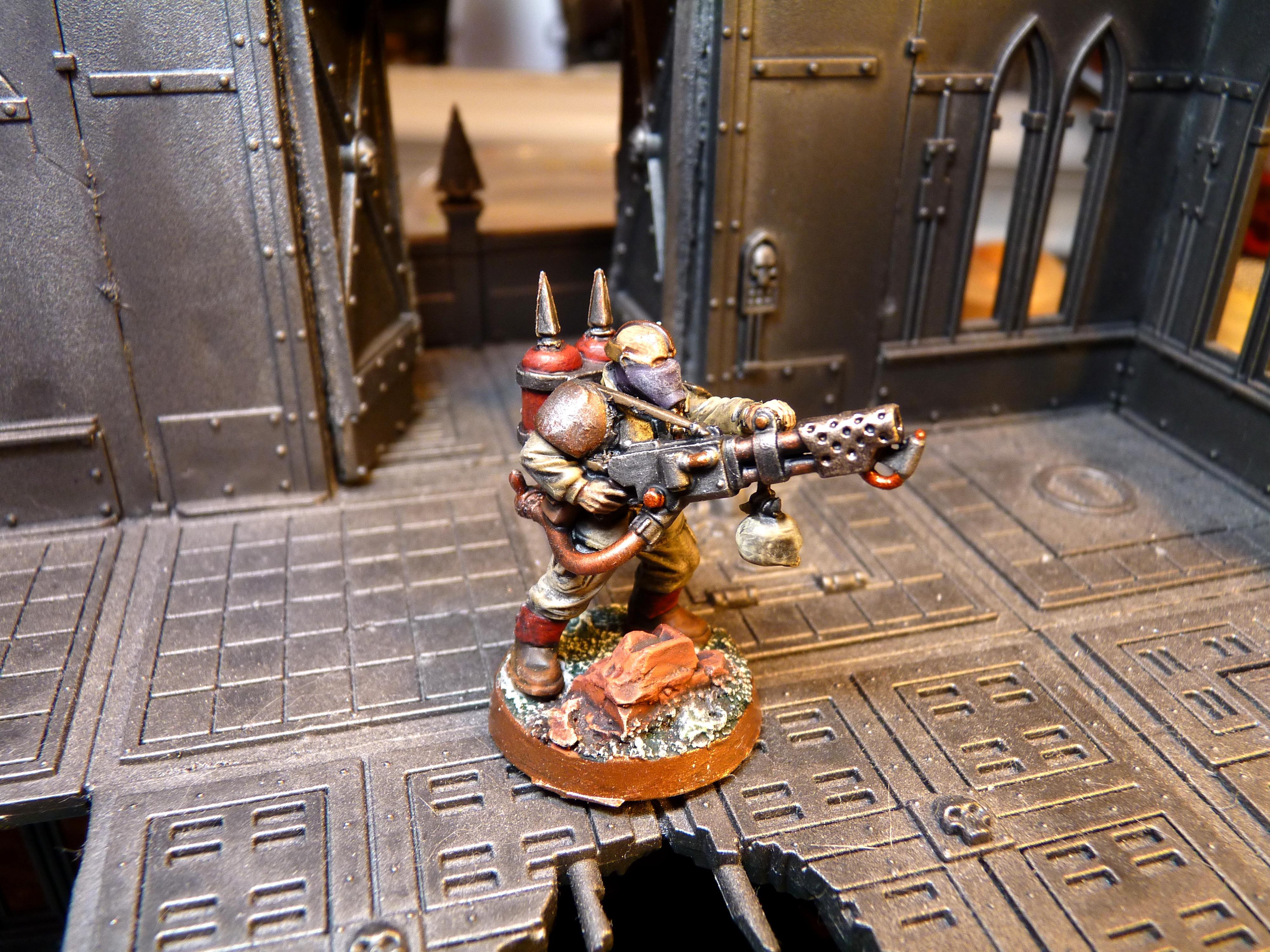 Chaos Renegades, Flamer, Imperial Guard, Renegade Flamer, Renegade Guard