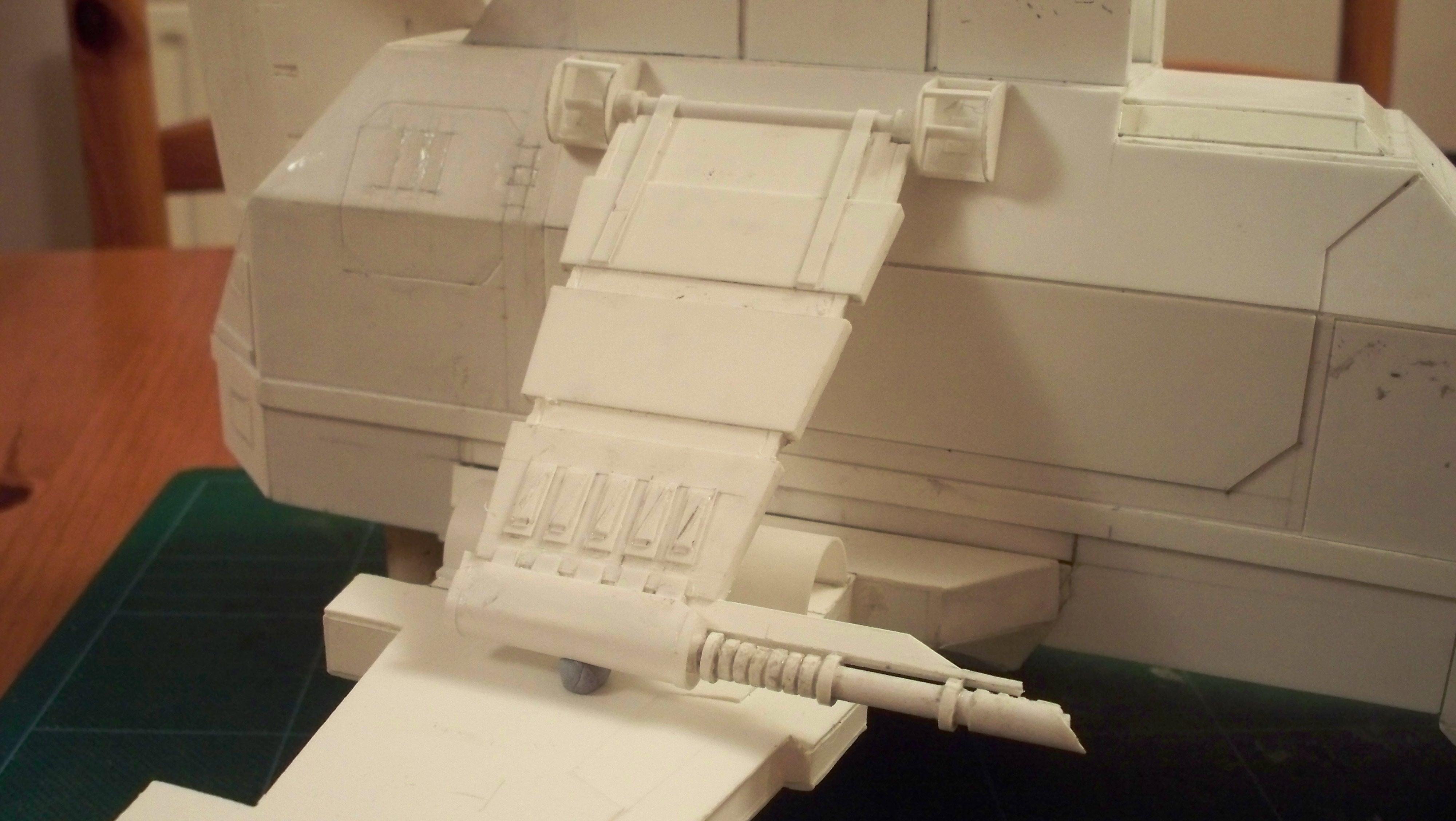 Gunship, Plasticard, Scratch Build, Thunderhawk, Work In Progress