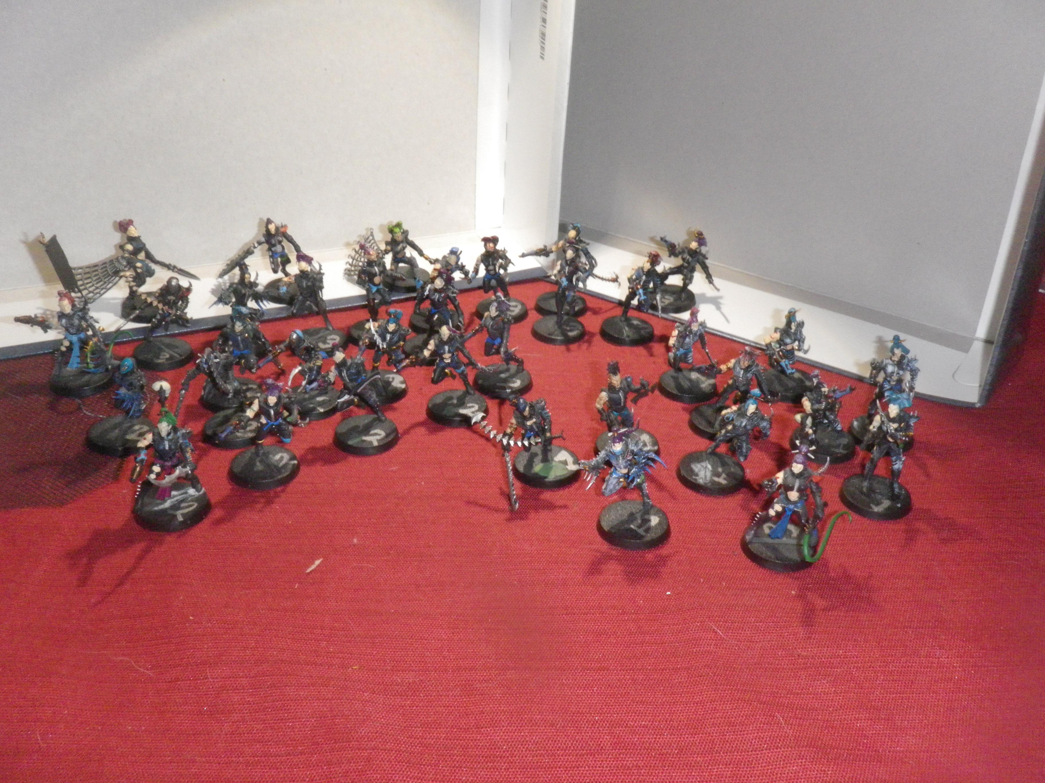 three squads of wychs...ten per...need to add a couple more squads