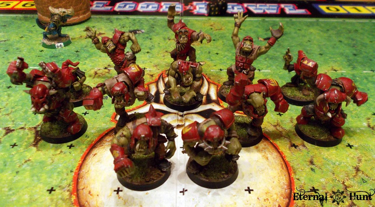 Battle Report, Bb, Blood Bowl, Game, Orcs Vs. Lustria