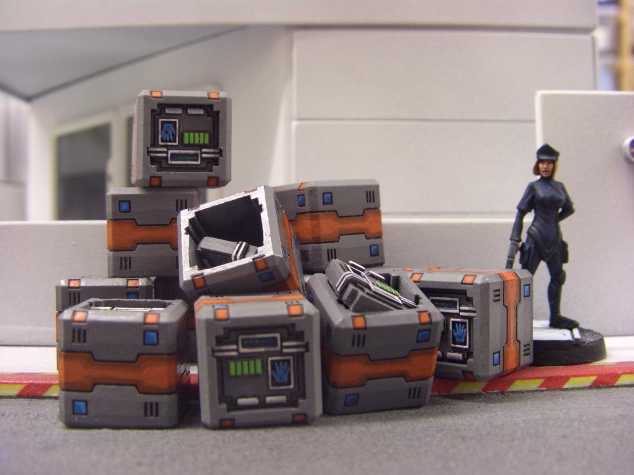 Terrain, secure crates