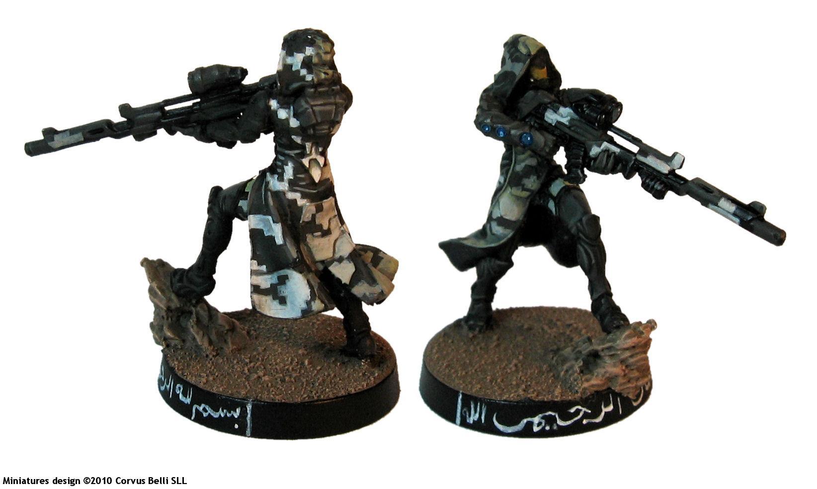 Belli, Camouflage, Corvus, Digital, Haqqislam, Infinity, Lasiq, Omega, Precinct